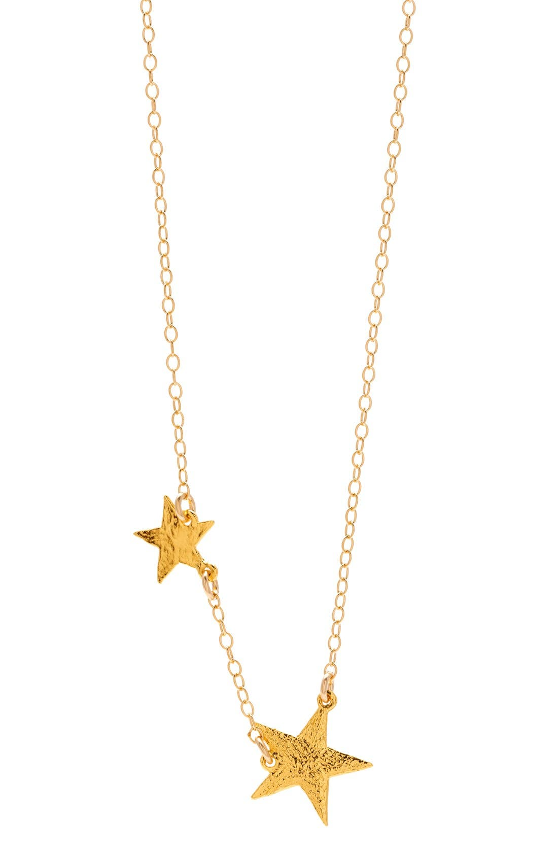 Star Pendant Necklace,                             Main thumbnail 1, color,                             Gold