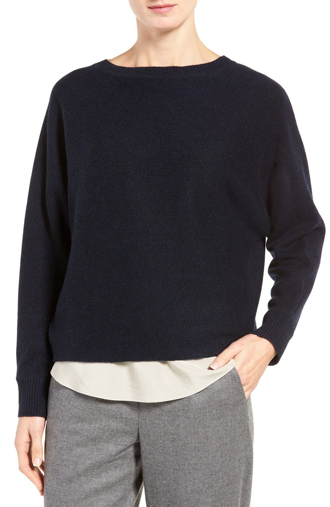 Alternate Image 1 Selected - Nordstrom Collection Cross Back Cashmere Sweater