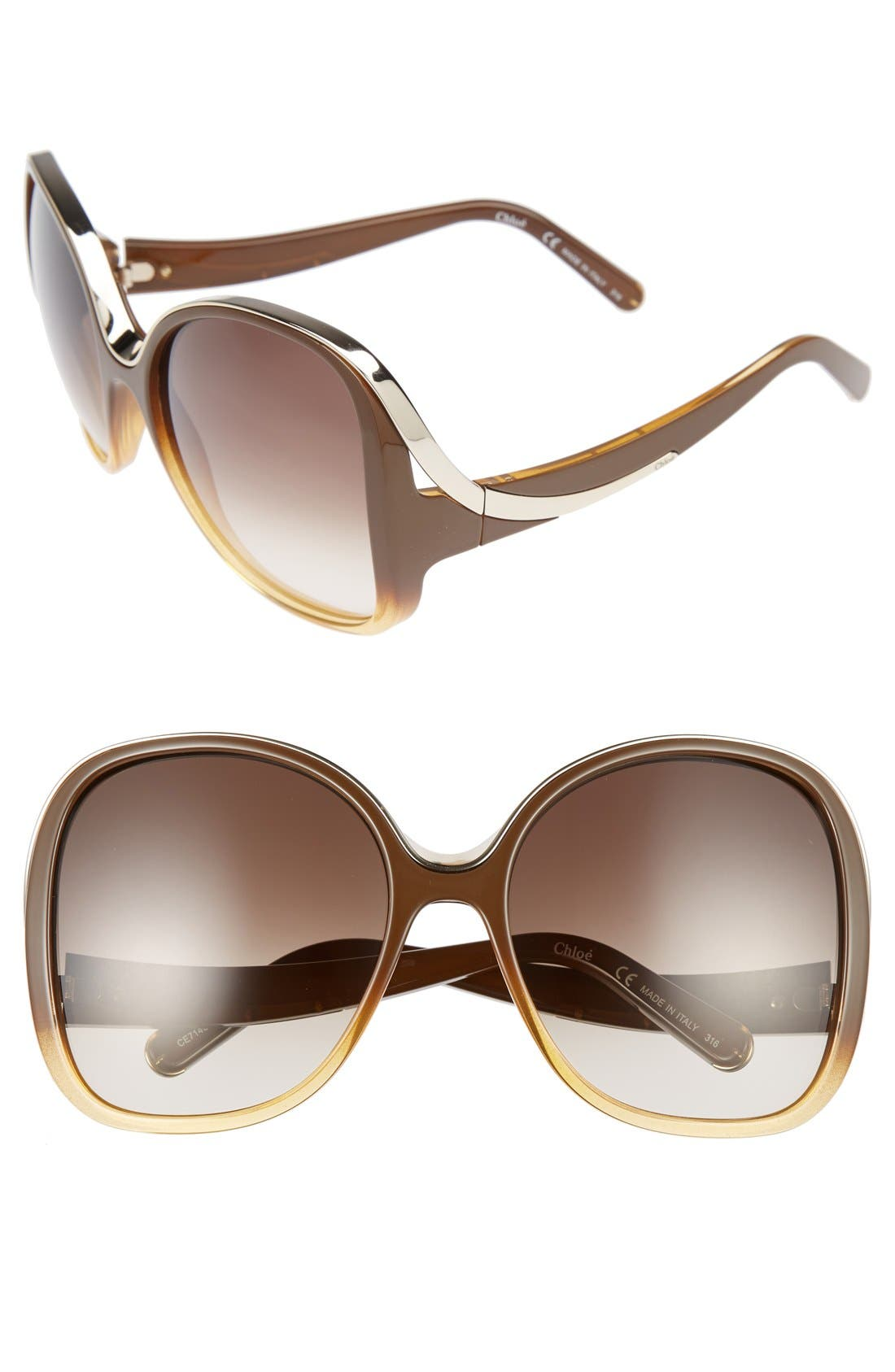 Alternate Image 1 Selected - Chloé Mandy 59mm Square Sunglasses