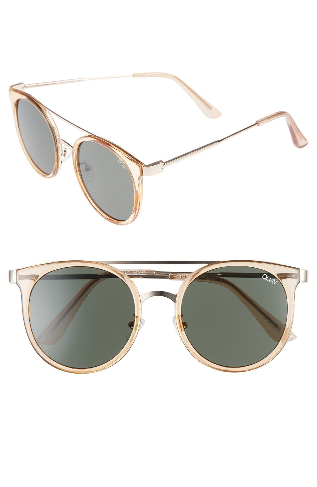 Main Image - Quay Australia Kandy Gram 51mm Round Sunglasses