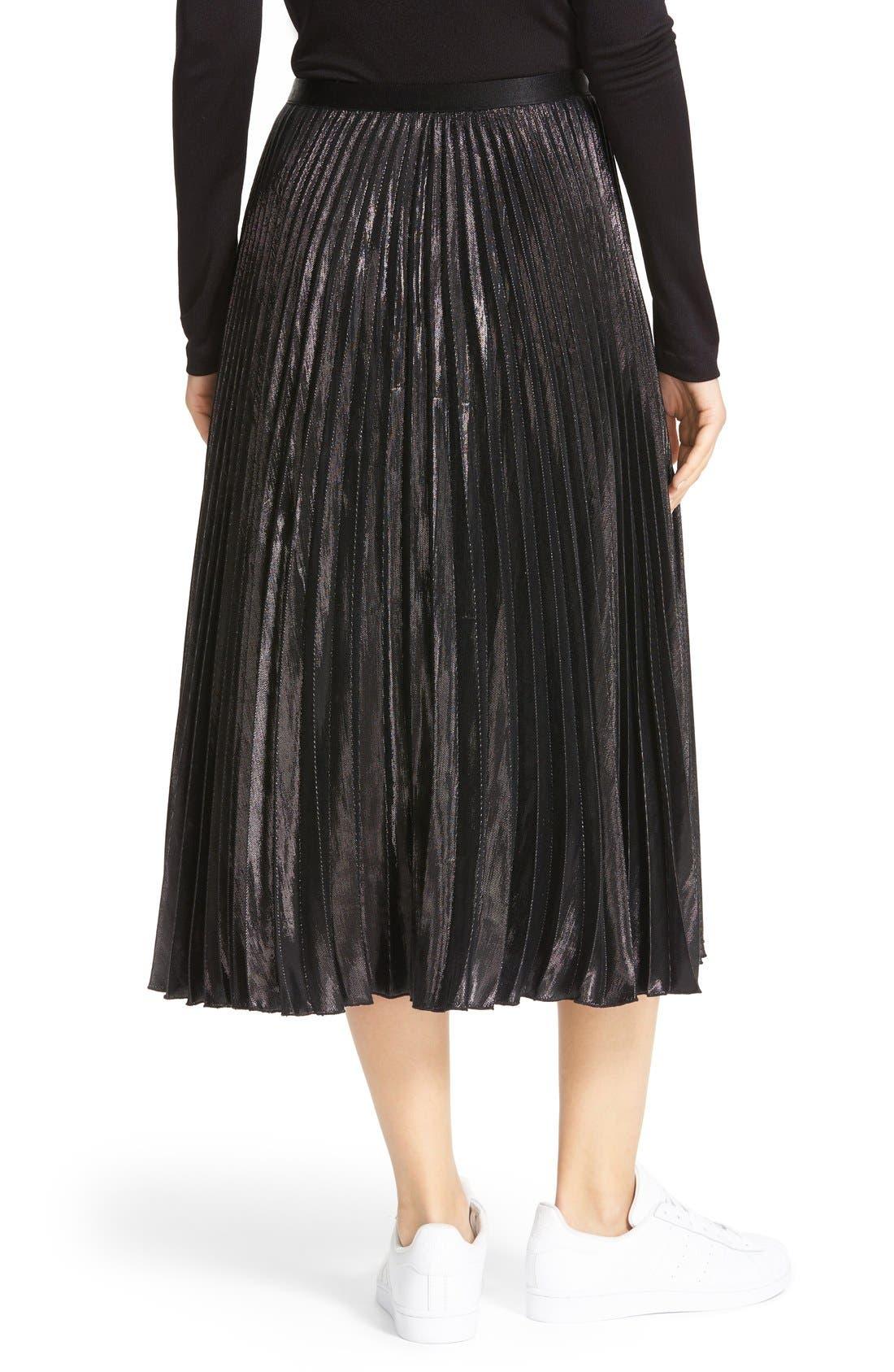 Alternate Image 3  - Diane von Furstenberg Heavyn Metallic Pleated Midi Skirt