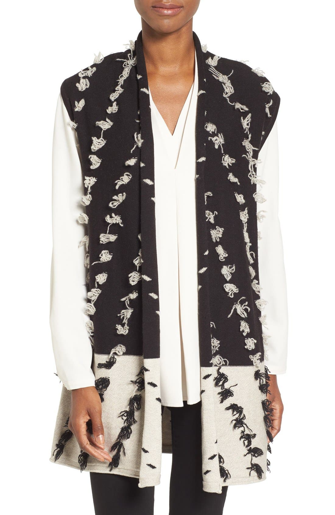 Alternate Image 1 Selected - NIC+ZOE Acadia Tufted Colorblock Knit Vest
