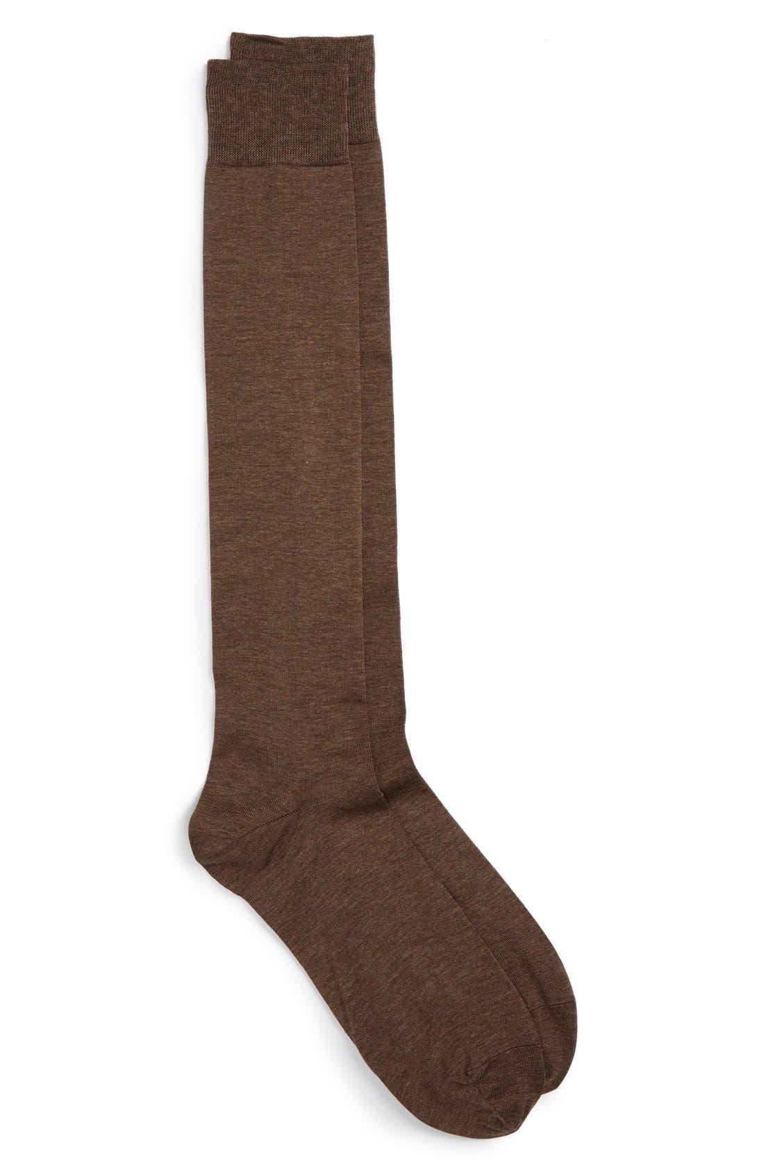 John W. Nordstrom® Over the Calf Egyptian Cotton Blend Socks (Men) (3 for $48)