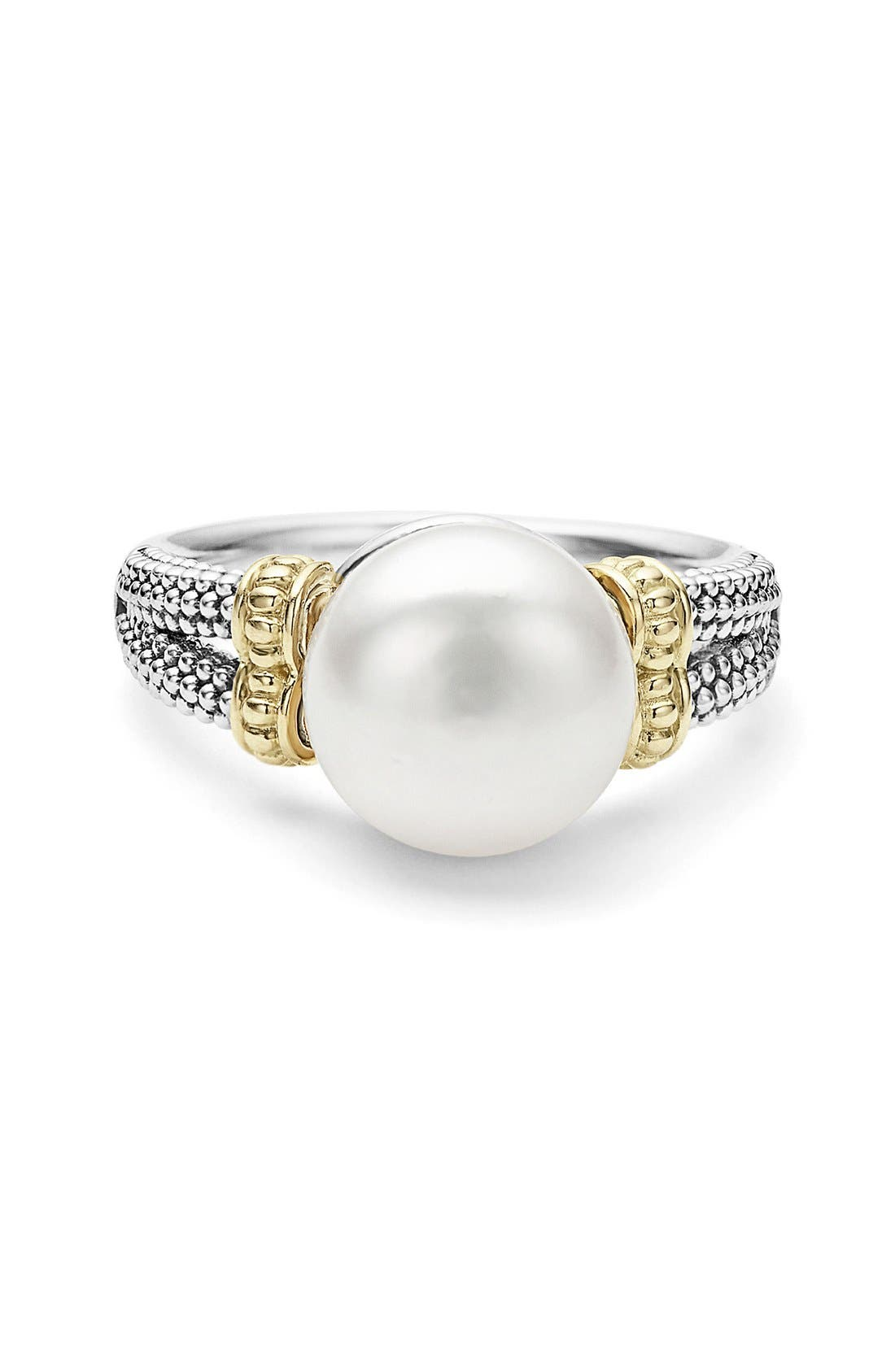 Luna Pearl Ring,                             Alternate thumbnail 2, color,                             Silver/ Pearl