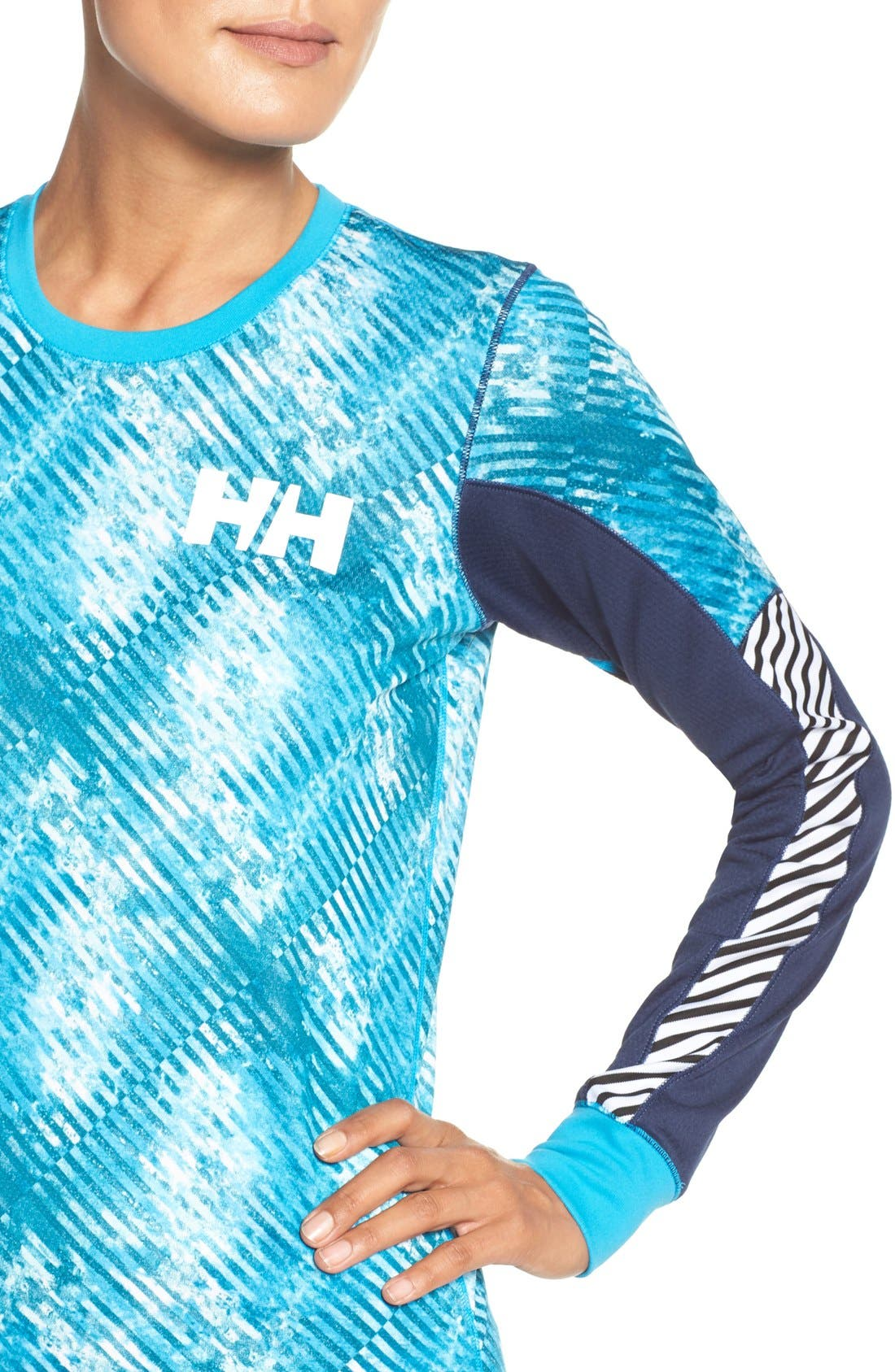 Active Flow Graphic Top,                             Alternate thumbnail 4, color,                             Winter Aqua