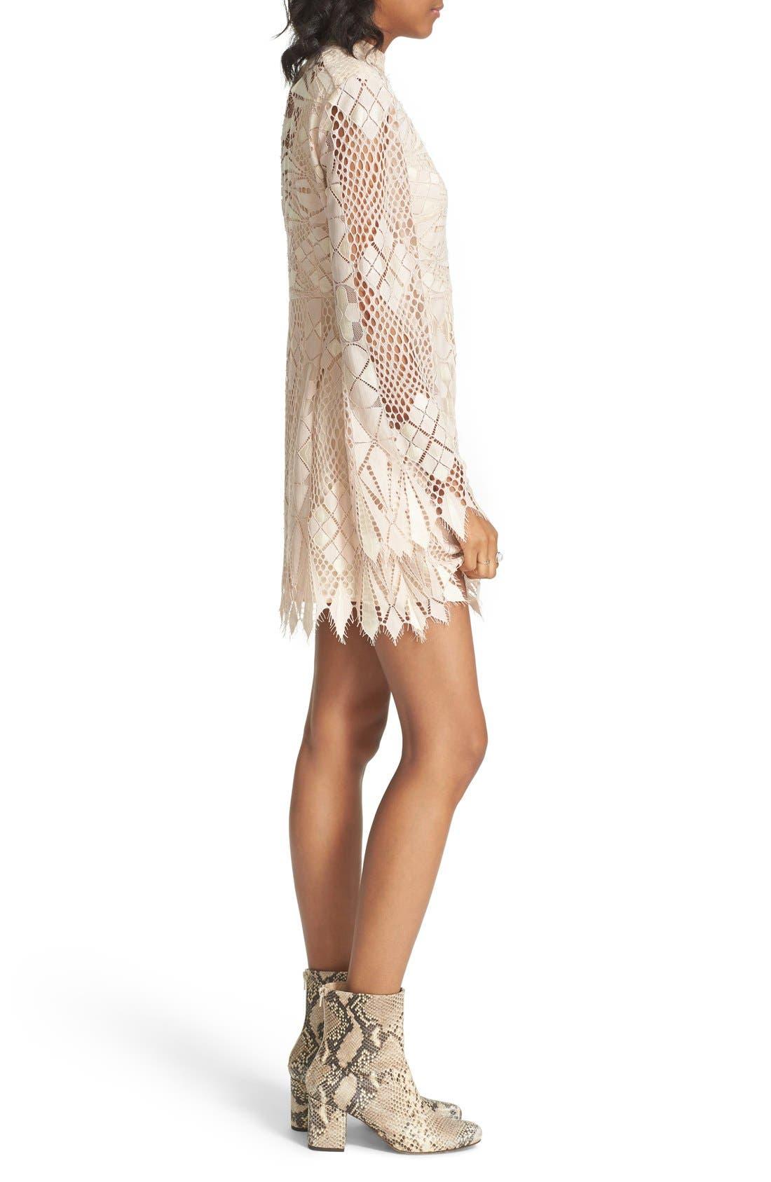 Alternate Image 4  - Free People Deco Crochet Minidress