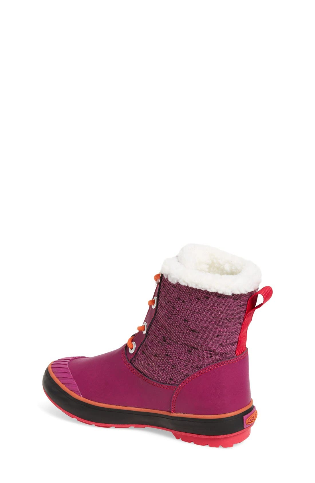 Elsa Waterproof Faux Fur Lined Snow Boot,                             Alternate thumbnail 2, color,                             Purple