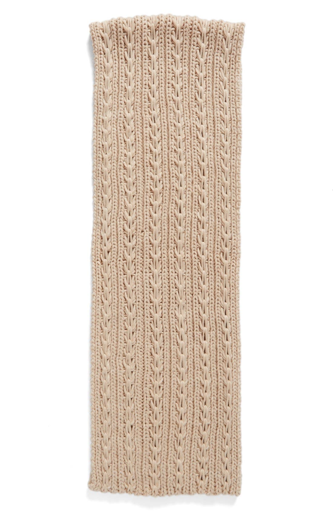Alternate Image 2  - Lulu Cable Knit Infinity Scarf (Juniors) (Online Only)