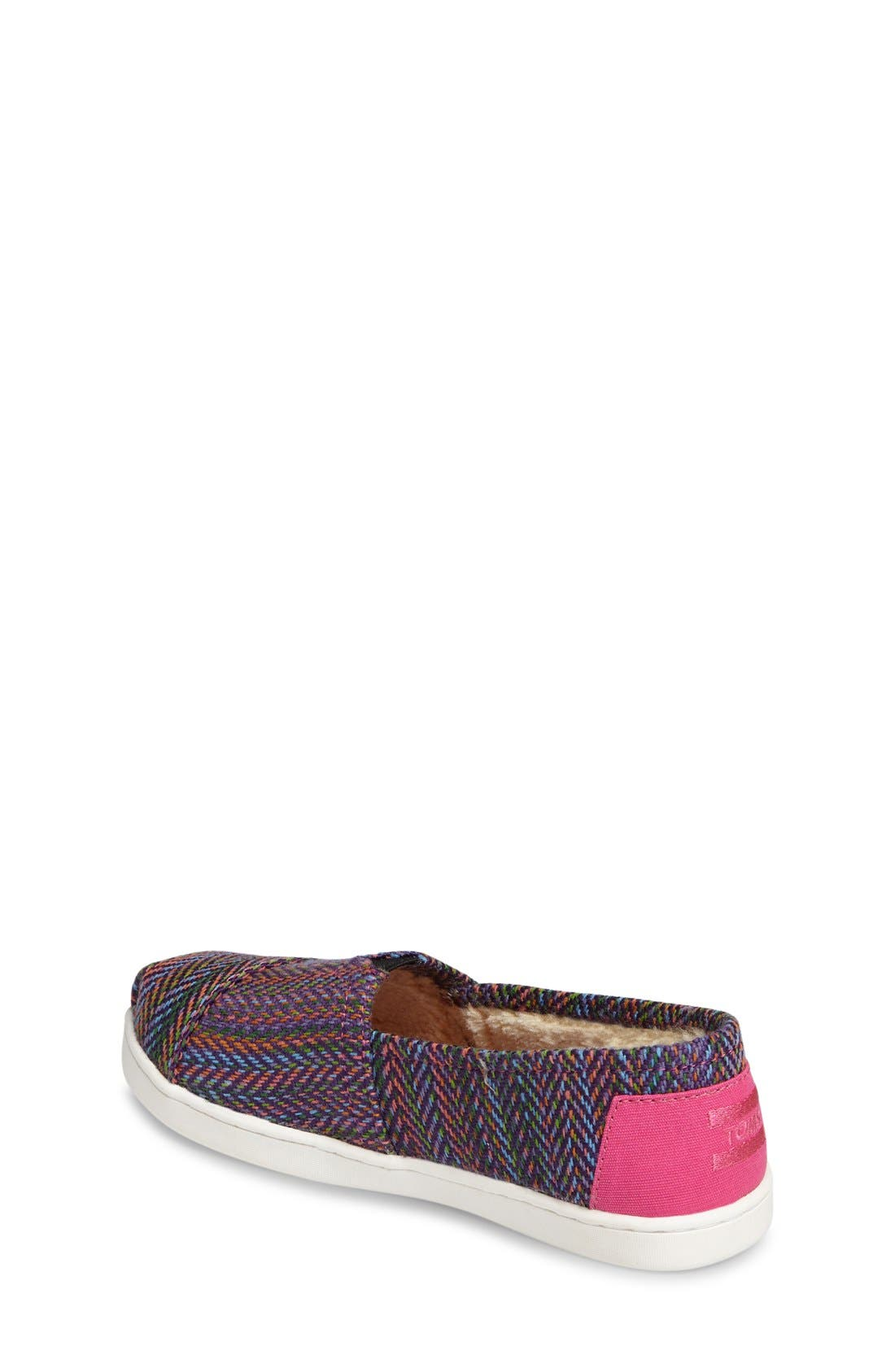 Classic Herringbone Faux Fur Lined Slip-On,                             Alternate thumbnail 2, color,                             Pink