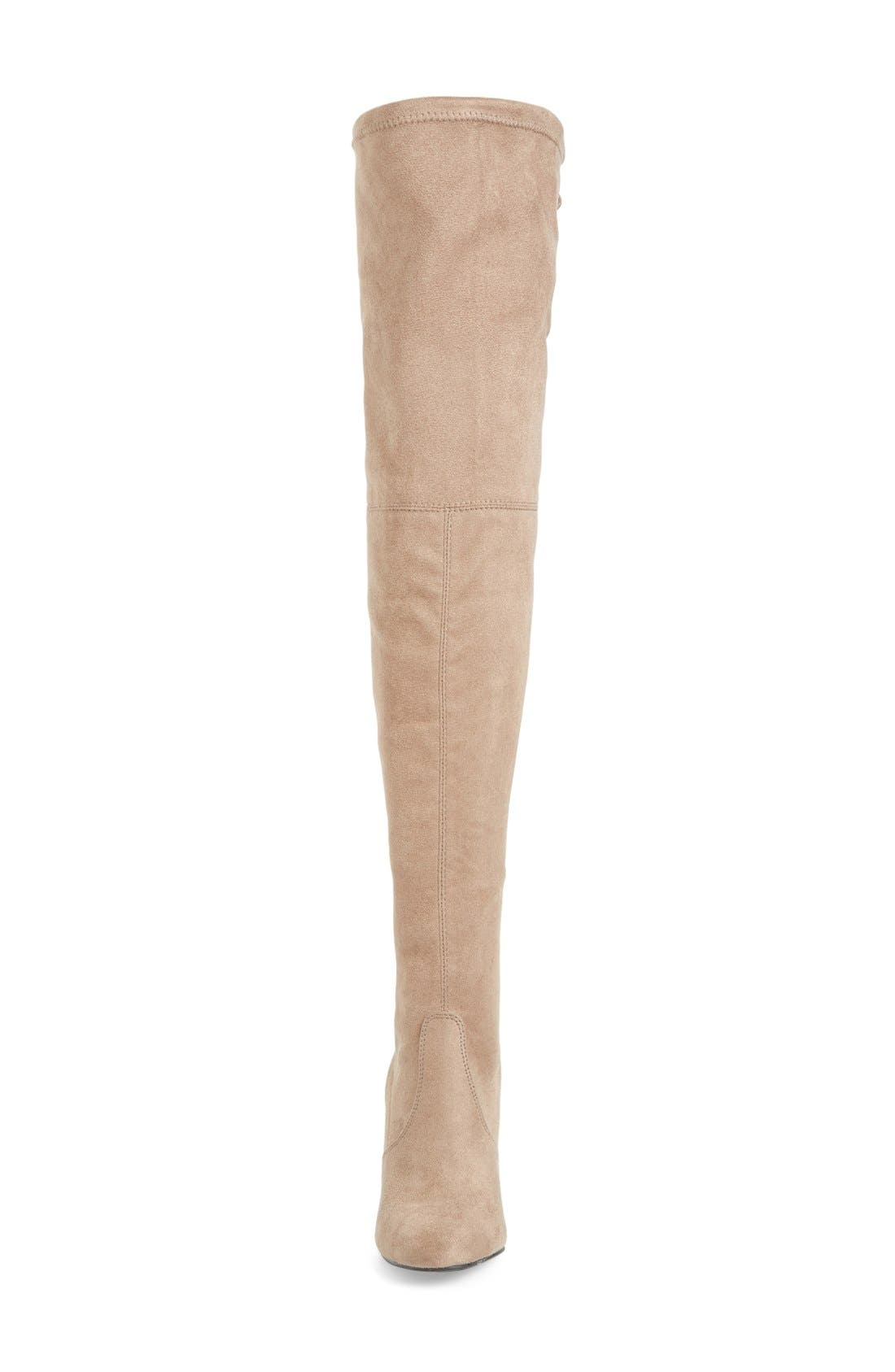 Norri Over the Knee Boot,                             Alternate thumbnail 3, color,                             Taupe