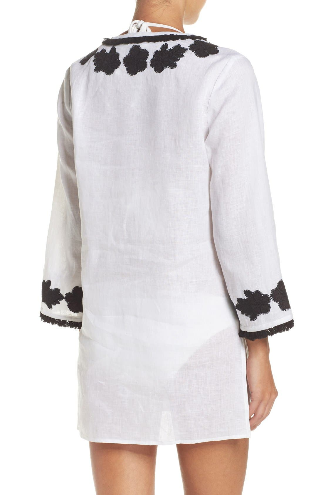Alternate Image 2  - Tory Burch Appliqué Cover-Up Tunic