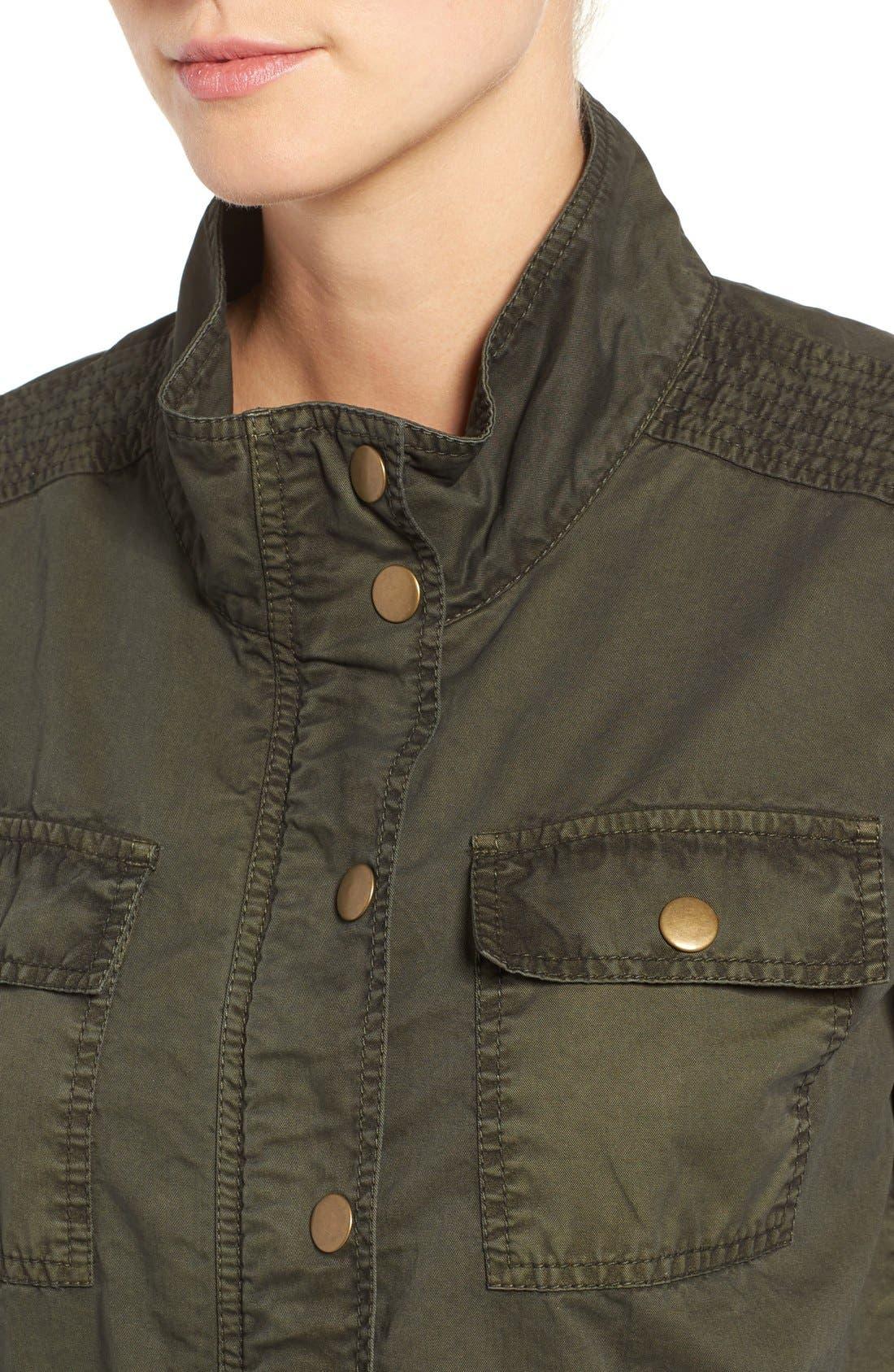 Alternate Image 4  - Caslon® Utility Jacket (Regular & Petite)