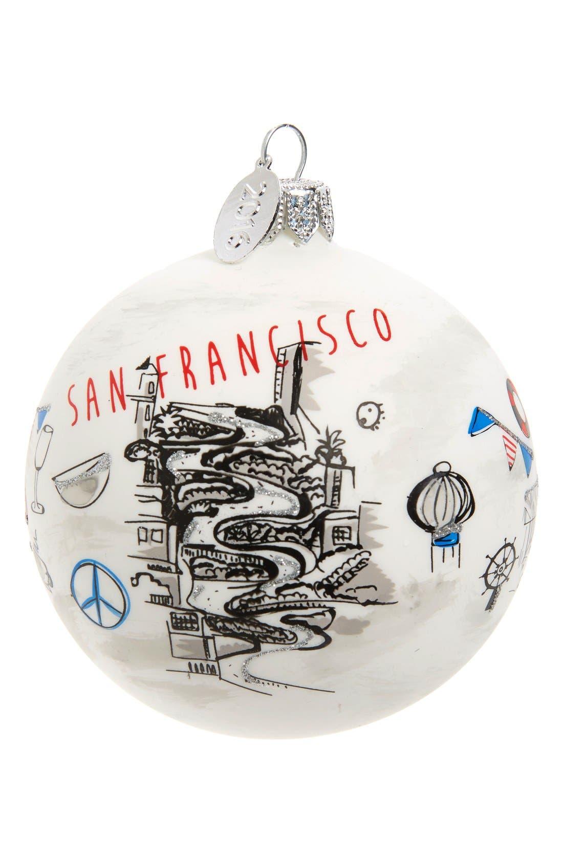 Main Image - Nordstrom at Home 'Travel' Handblown Glass Ball Ornament