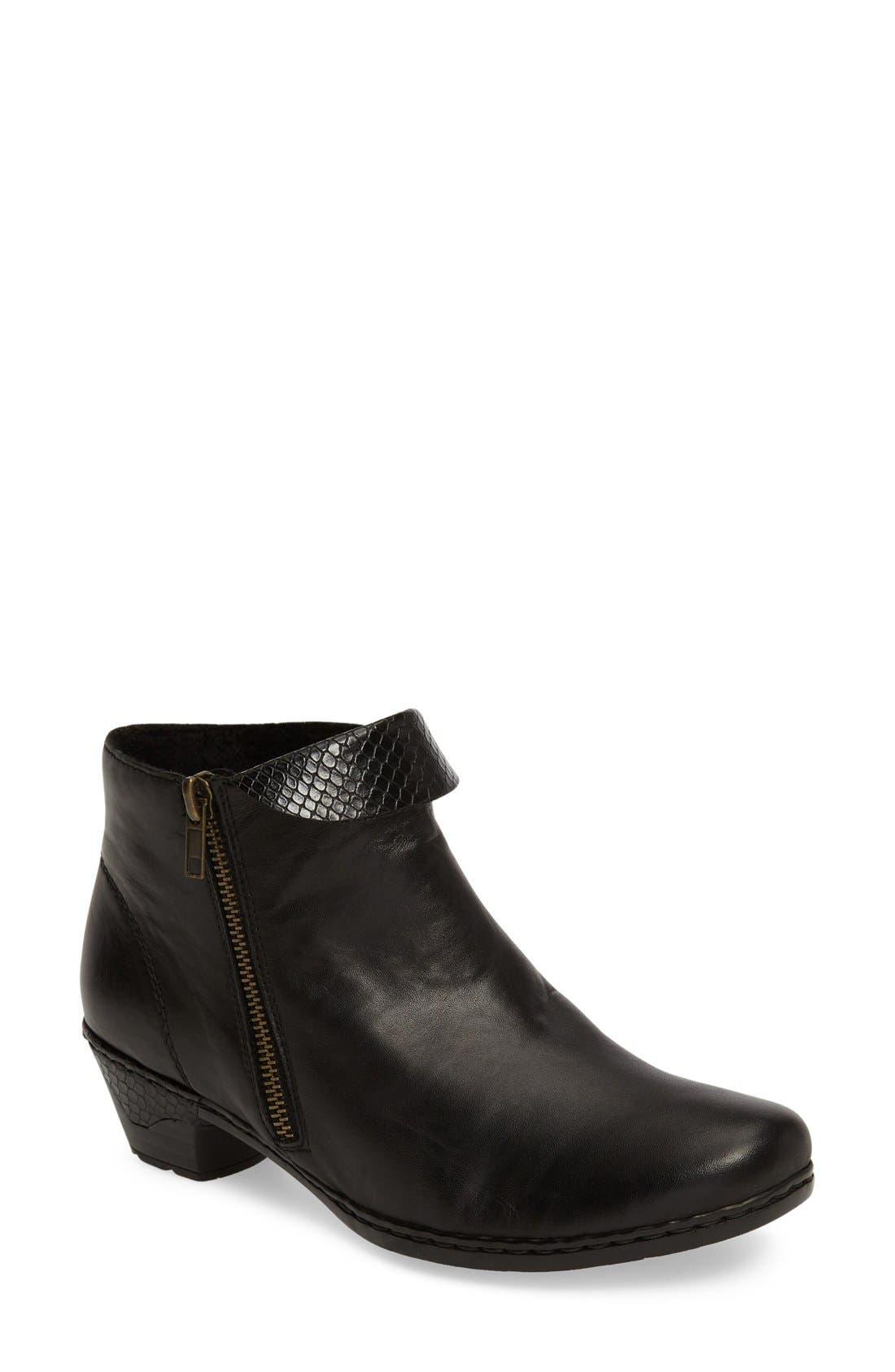 Lynn 61 Bootie,                             Main thumbnail 1, color,                             Black/ Black Leather