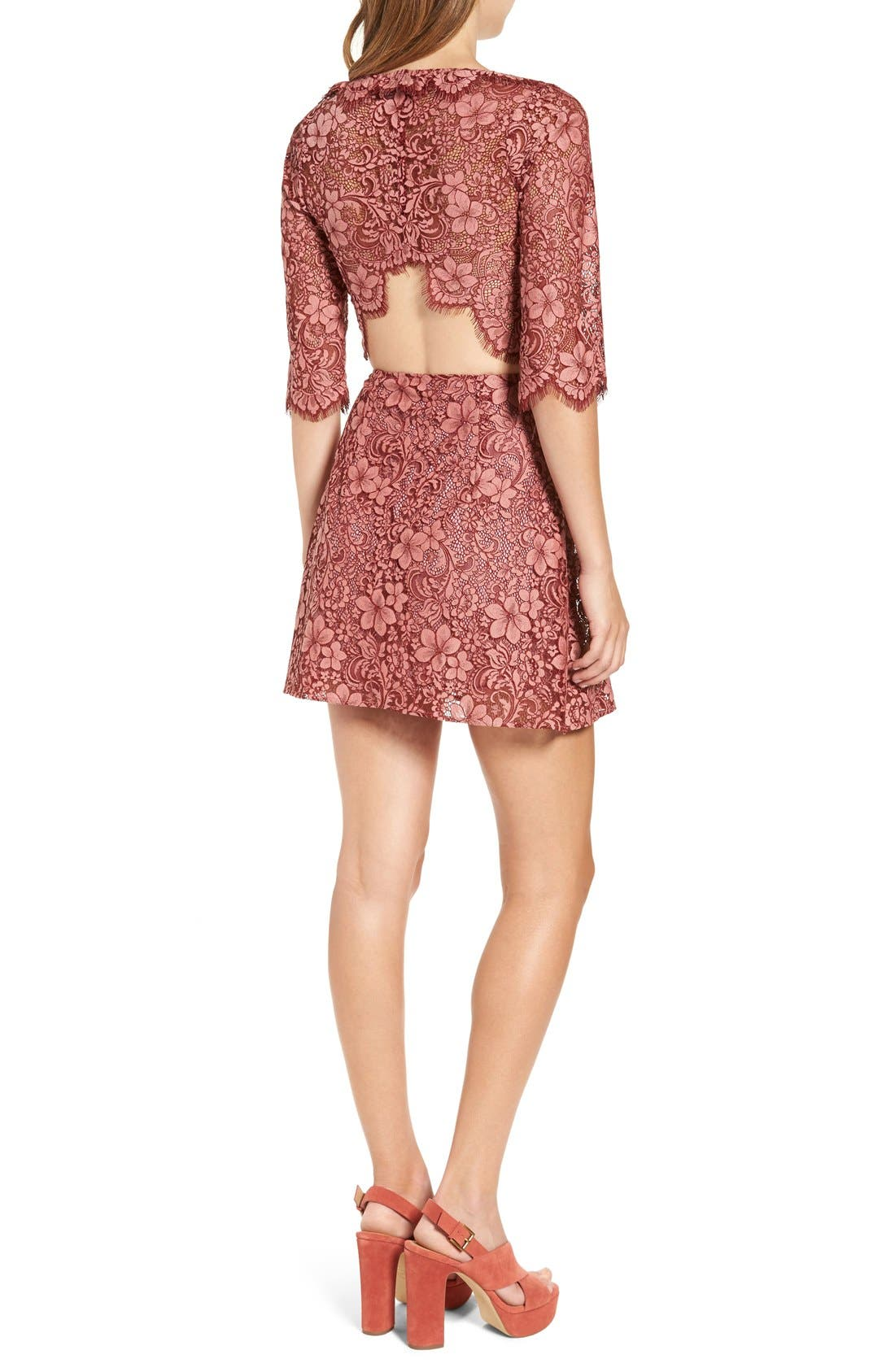 Alternate Image 2  - For Love & Lemons 'Theodora' Minidress