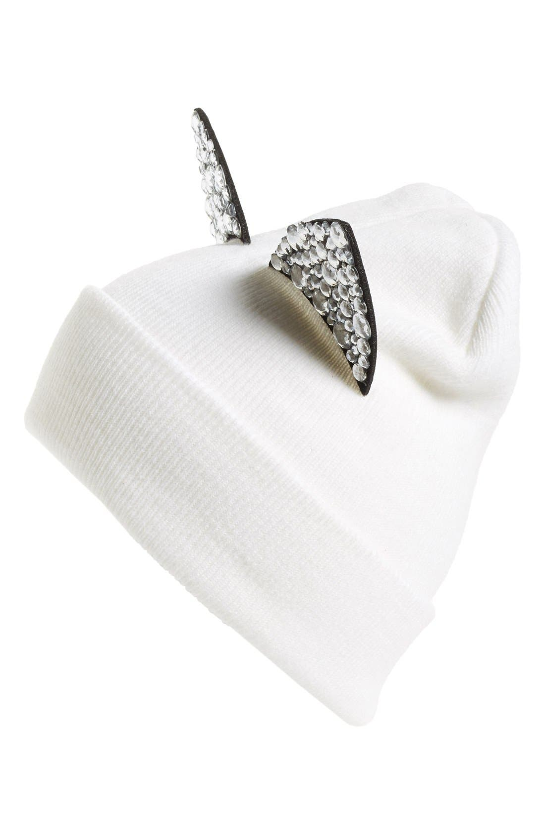 Main Image - Tasha Jeweled Cat Ear Beanie