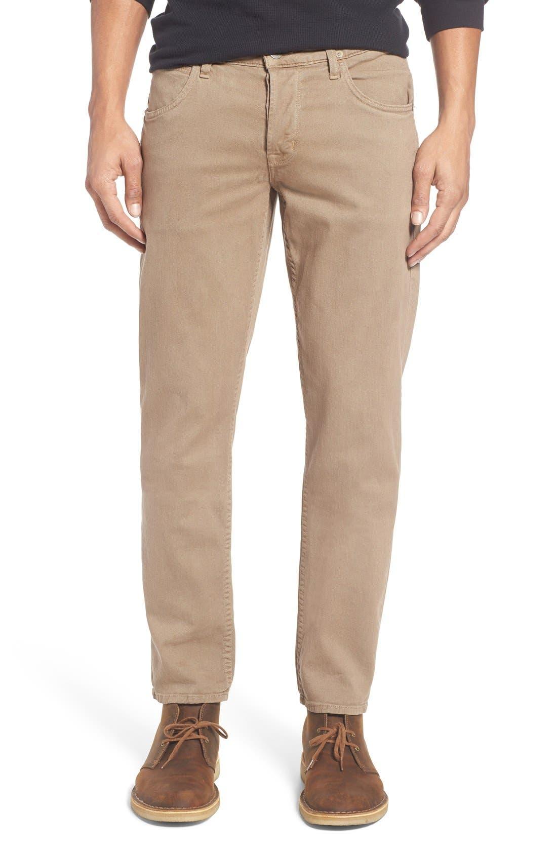 Main Image - Hudson Jeans Blake Slim Fit Jeans (Quicksand Khaki)