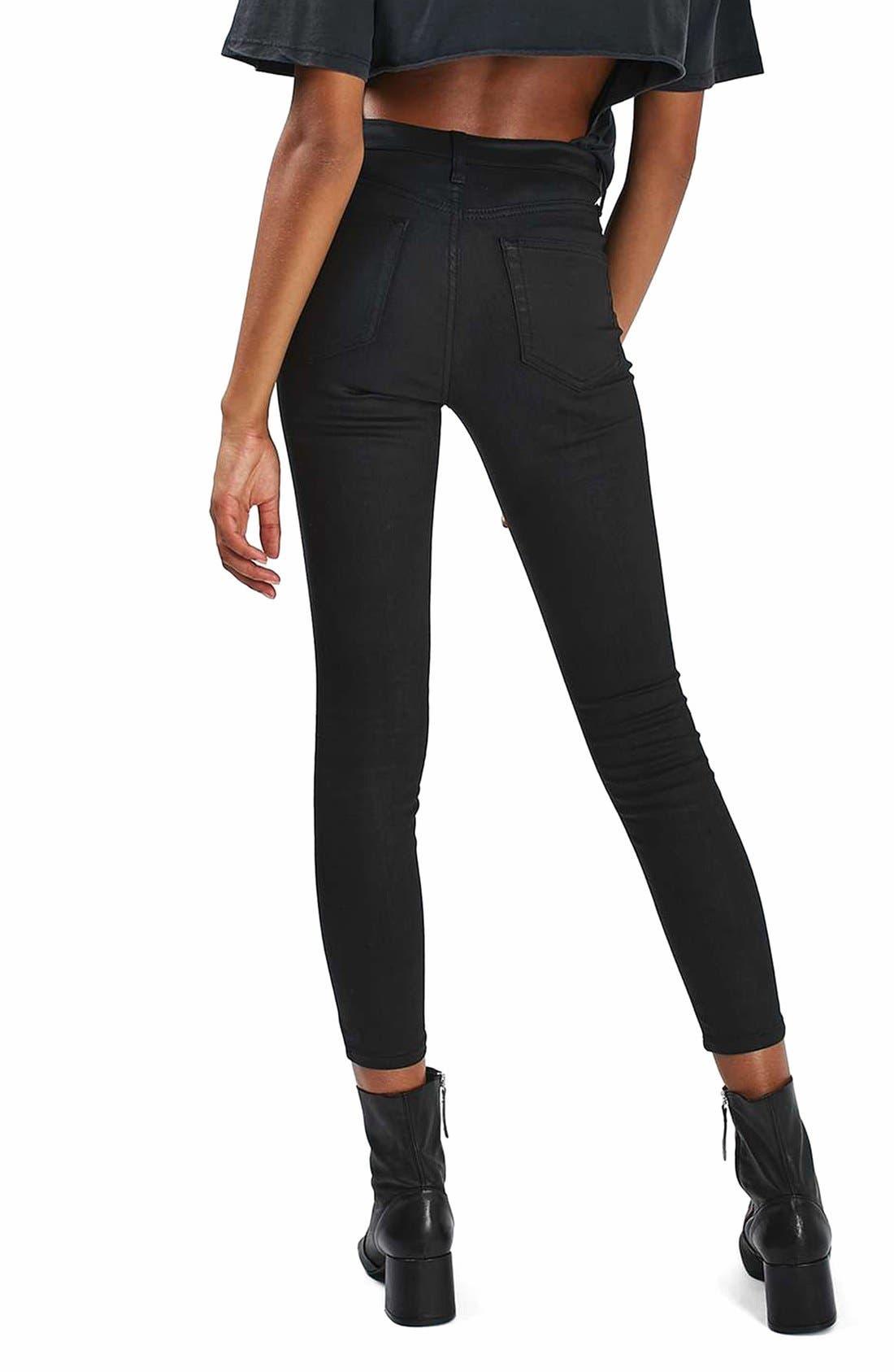 Alternate Image 3  - Topshop Jamie Coated Skinny Jeans