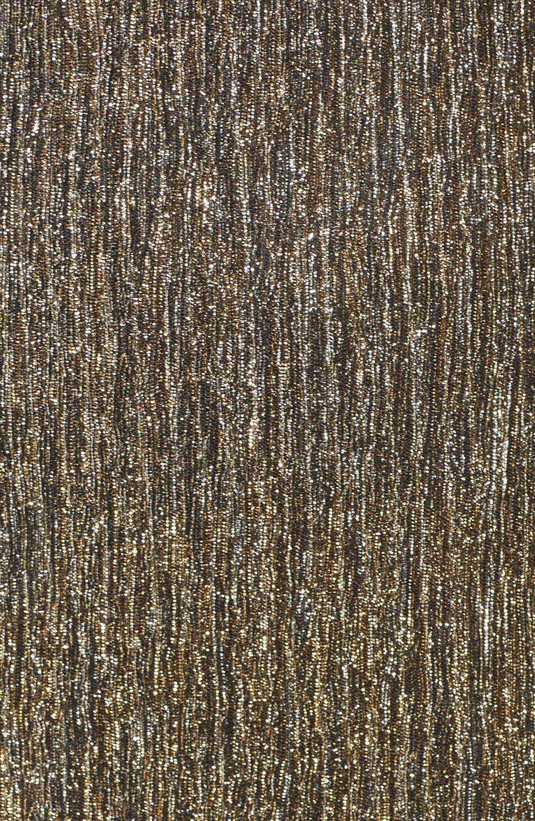Alternate Image 6  - Gerylin Metallic Knit Body-Con Dress