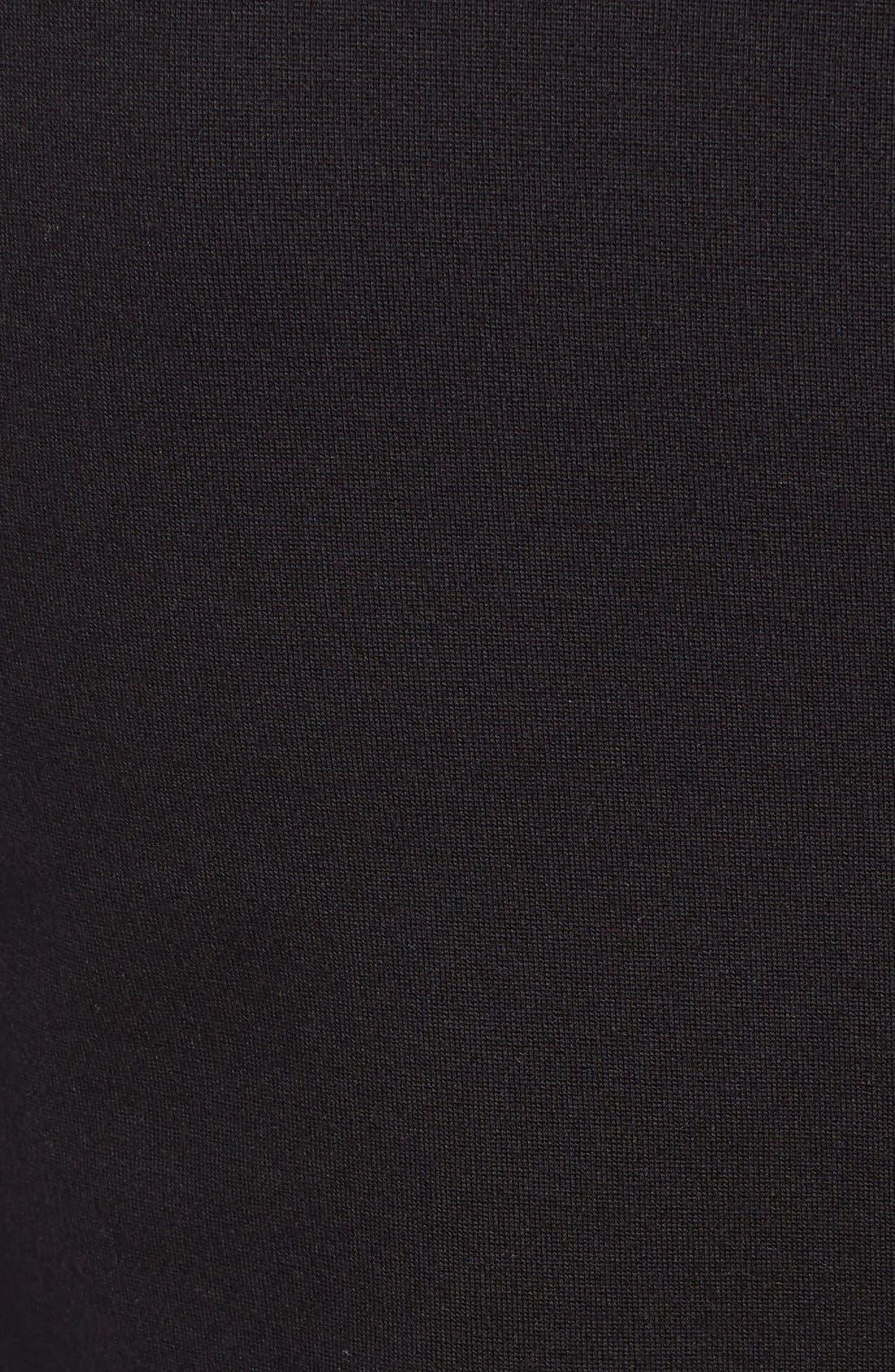 Shely Collarless Ponte Blazer,                             Alternate thumbnail 5, color,                             Black
