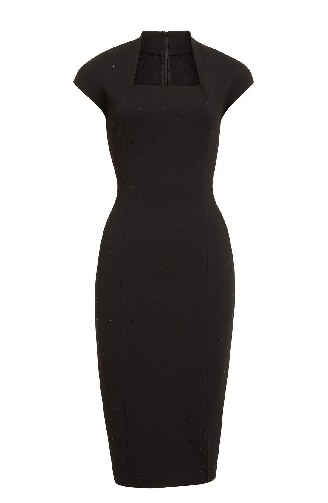 Alternate Image 4  - St. John Collection Embellished Luxe Sculpture Knit Dress
