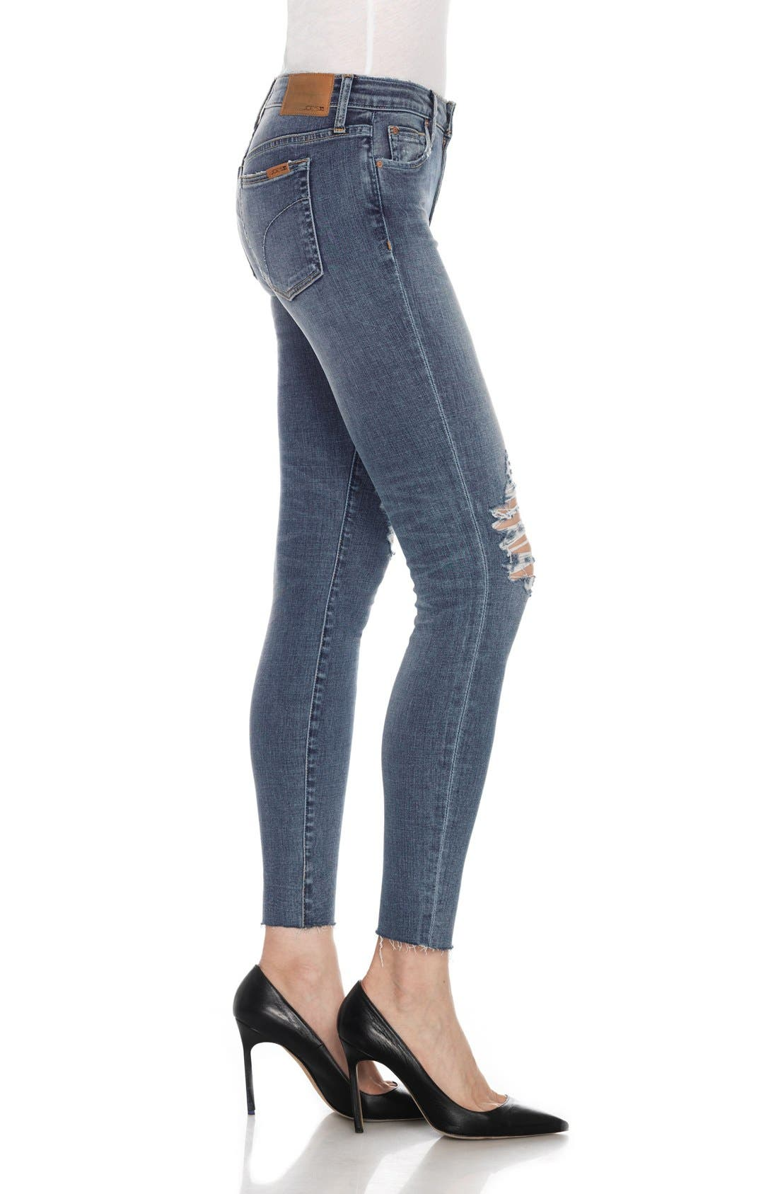 Flawless - Icon Ankle Skinny Jeans,                             Alternate thumbnail 3, color,                             Lydie