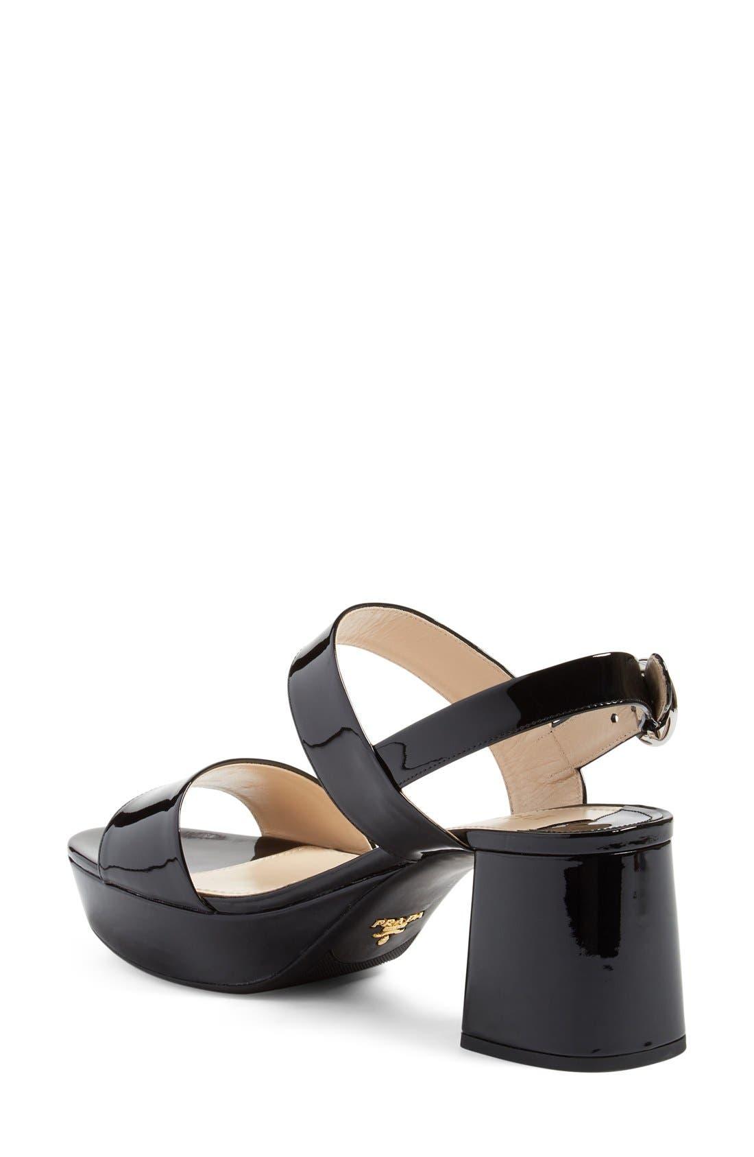 Alternate Image 2  - Prada Slingback Platform Sandal (Women)
