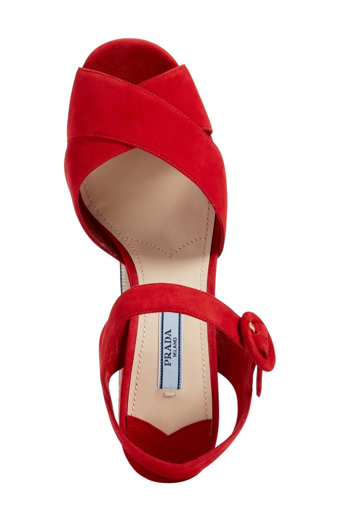 Alternate Image 3  - Prada Strappy Platform Sandal (Women)