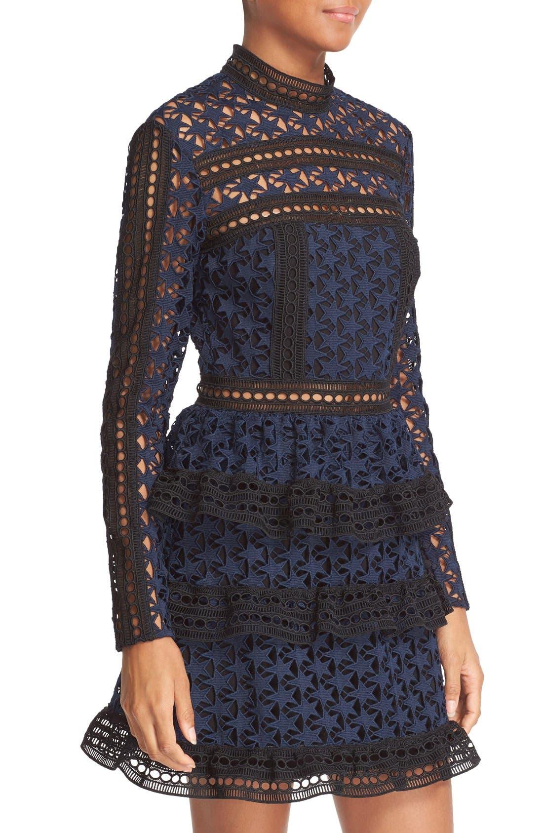 Alternate Image 4  - Self-Portrait Star Lace Tiered Minidress