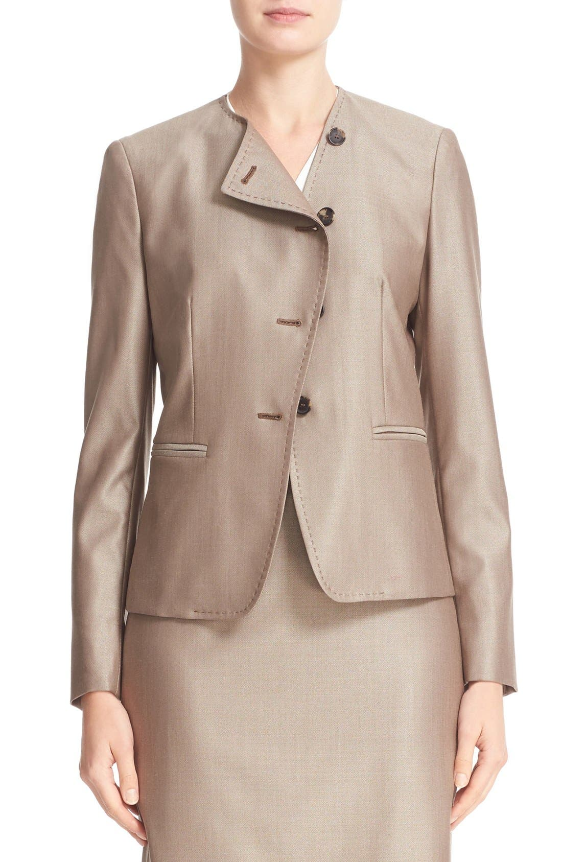 Erba Asymmetrical Jacket,                         Main,                         color, Copper
