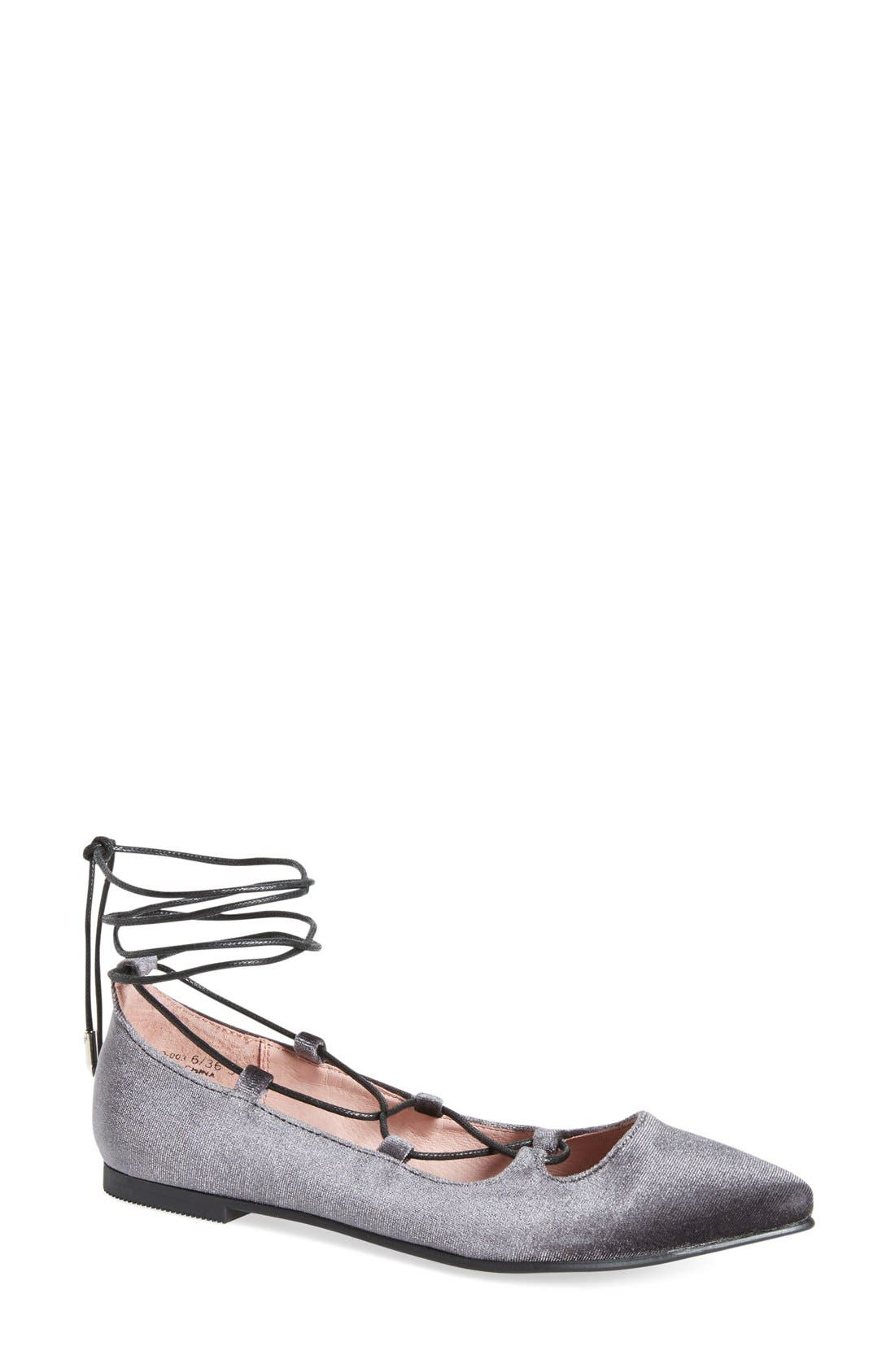 Alternate Image 1 Selected - Chinese Laundry Endless Summer Pointy Toe Ghillie Flat (Women)