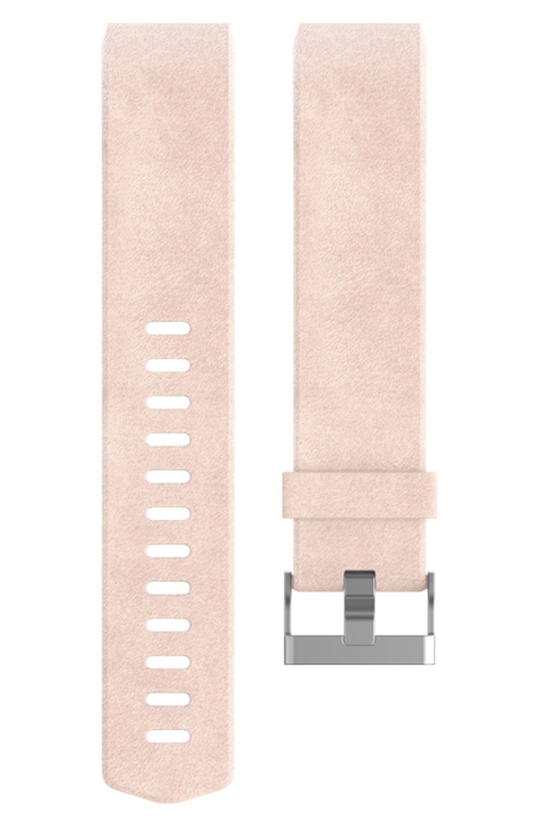 Alternate Image 1 Selected - Fitbit Charge 2 Leather Accessory Band