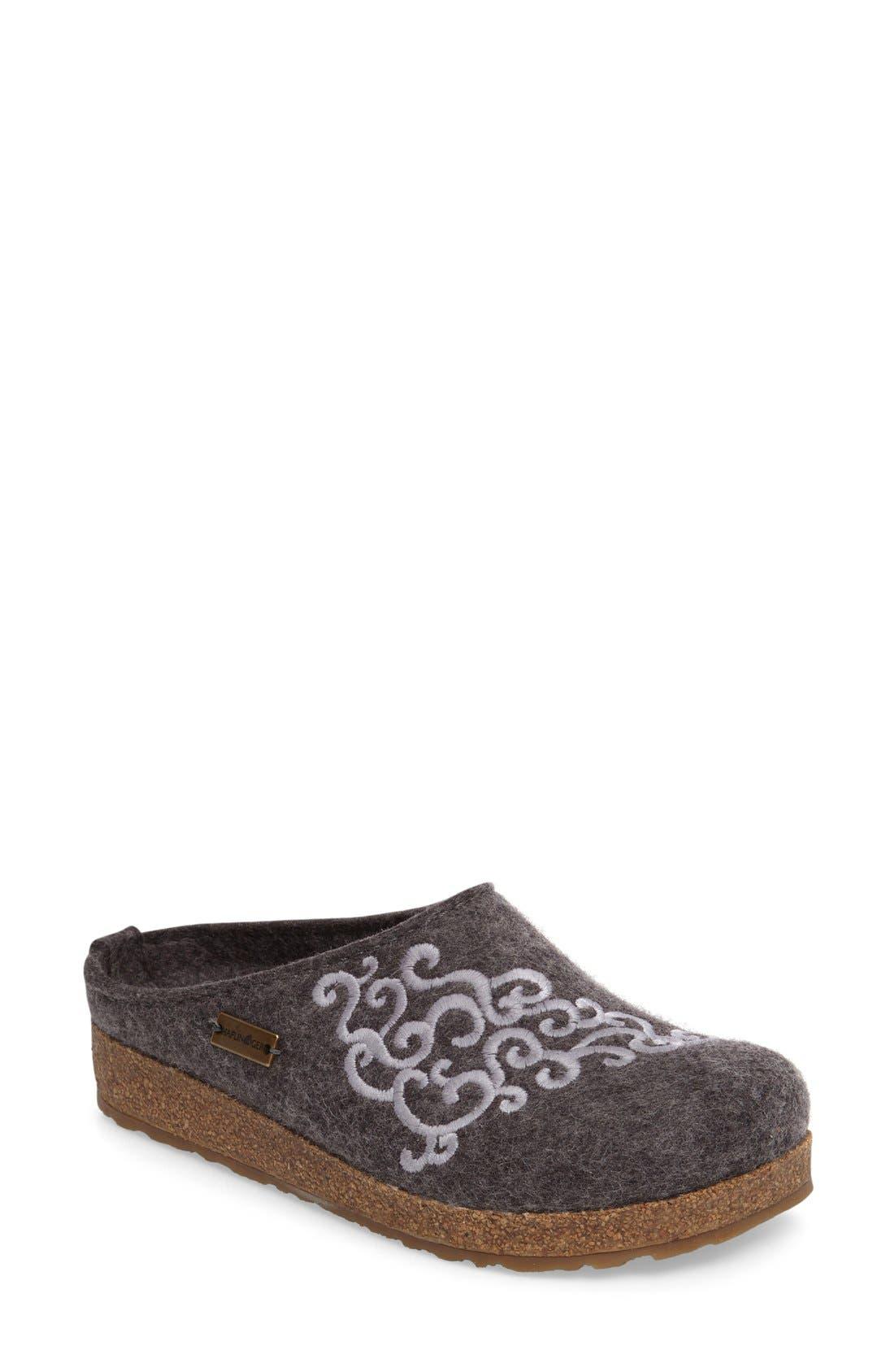 Symphony Slipper,                         Main,                         color, Grey Wool