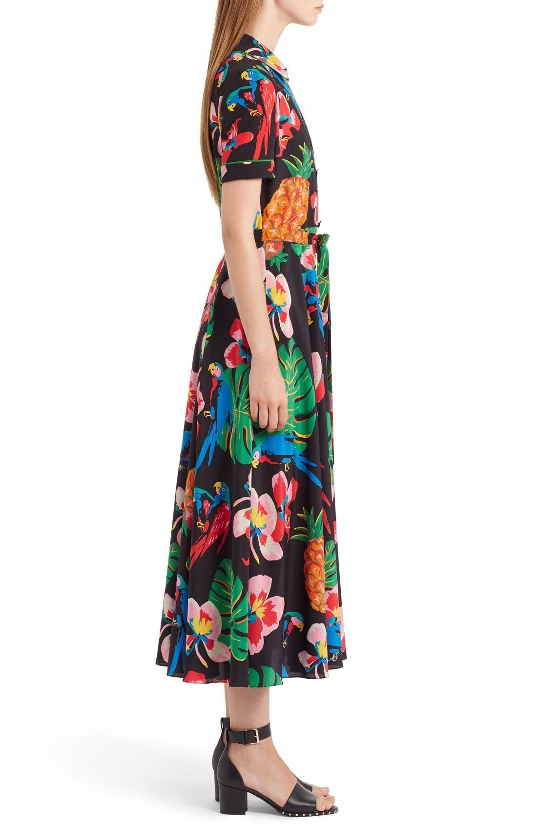 Alternate Image 4  - Valentino Tropical Dream Print Silk Dress