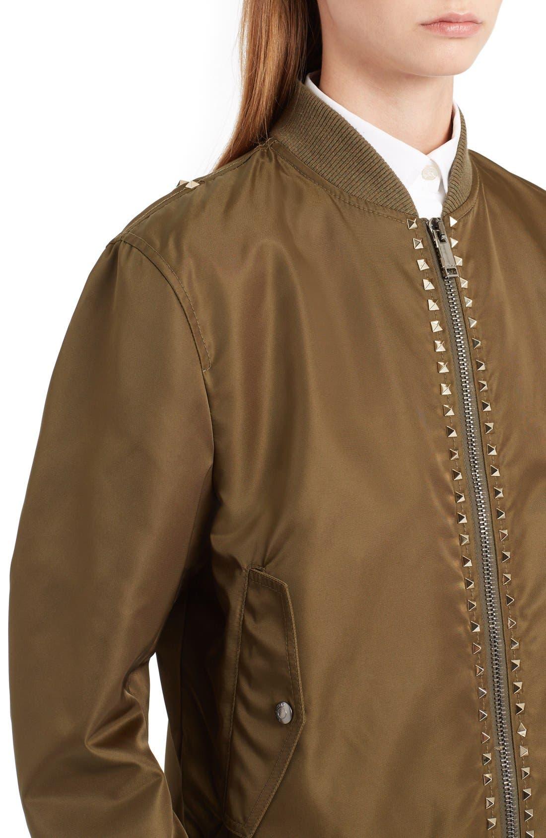 Alternate Image 5  - Valentino Rockstud Bomber Jacket