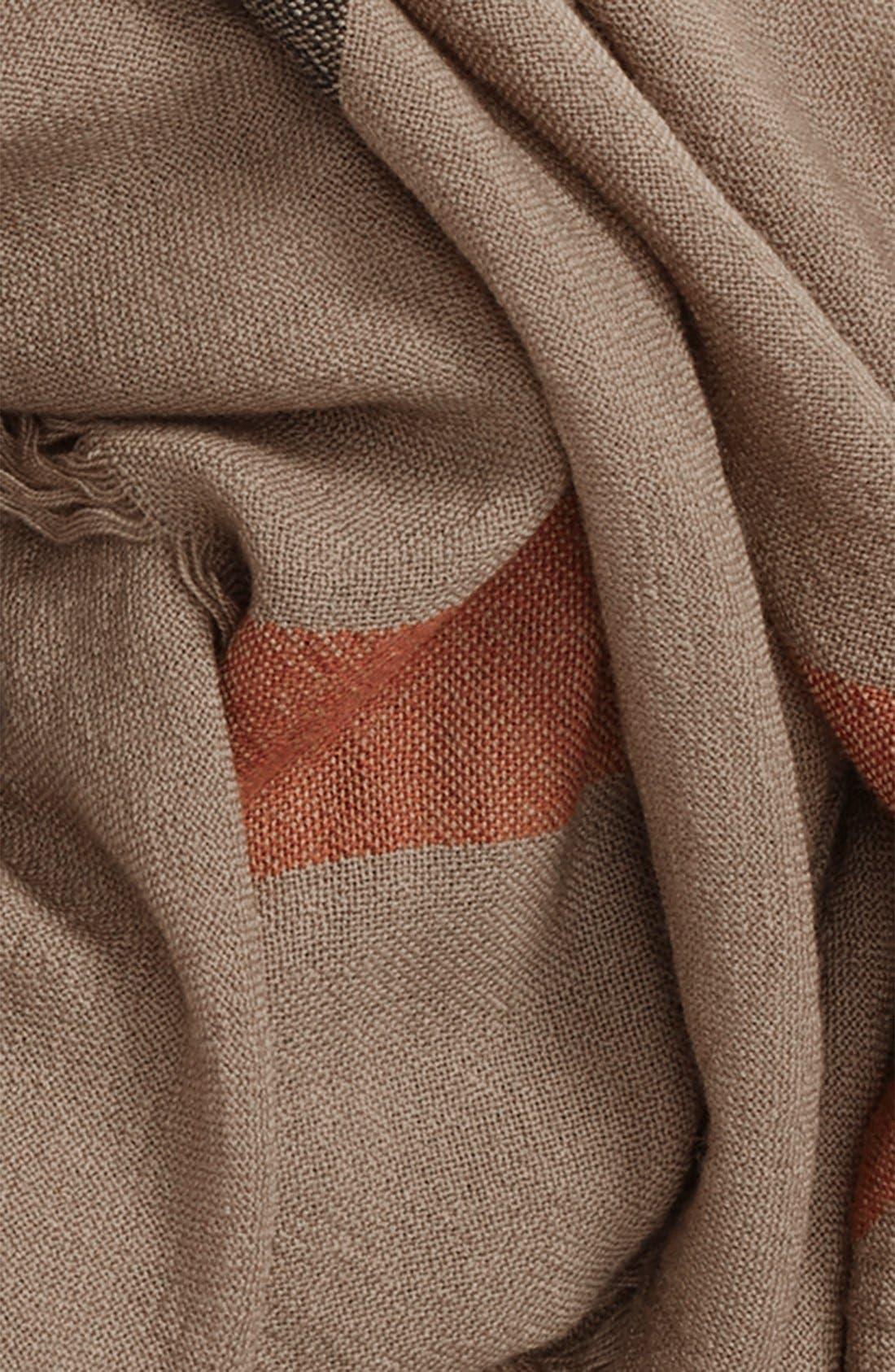 Check Merino Wool Scarf,                             Alternate thumbnail 3, color,                             House Check