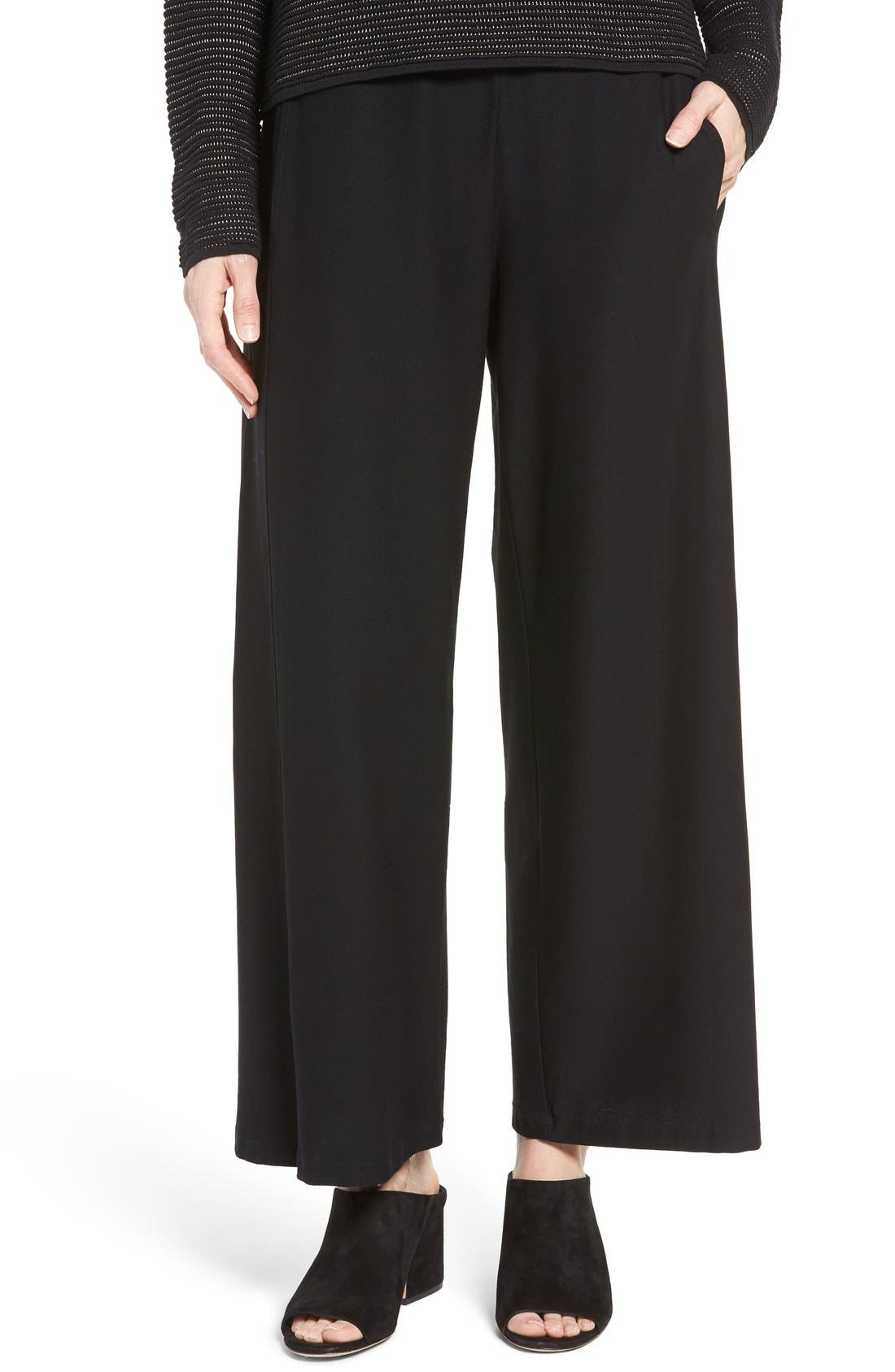 Eileen Fisher Wide Leg Crop Pants (Regular & Petite)