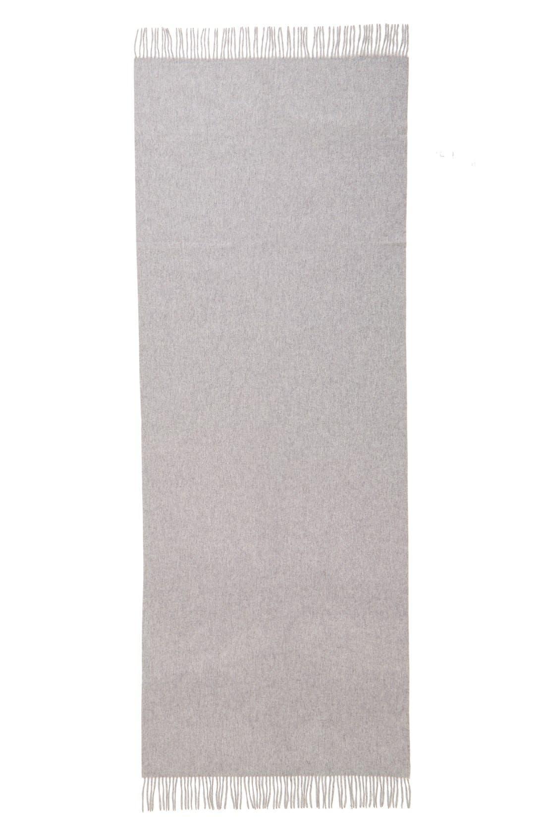 Oversize Cashmere Wrap,                             Alternate thumbnail 2, color,                             Grey Soft Heather