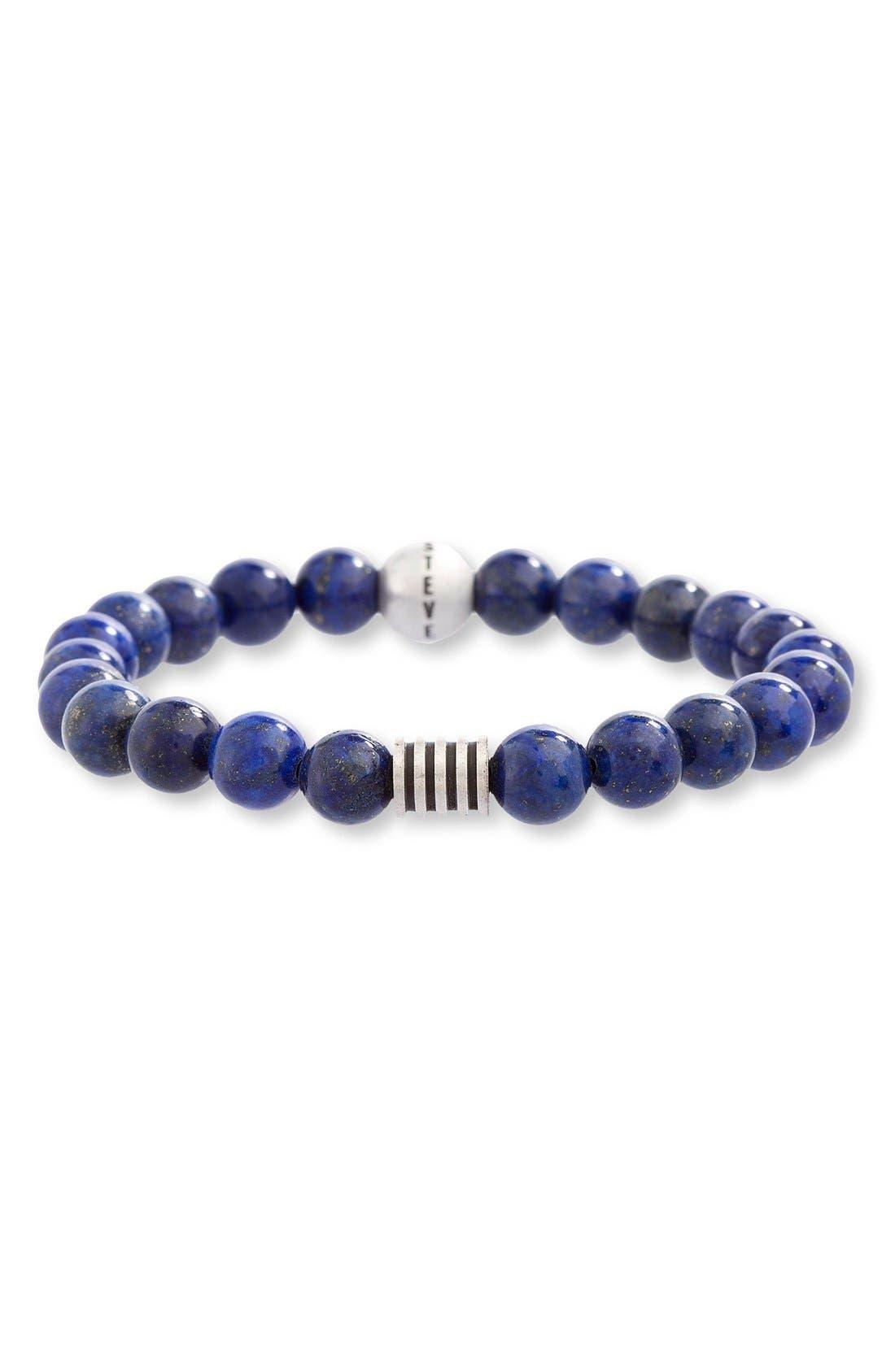 Lapis Lazuli Bead Bracelet,                         Main,                         color, Blue