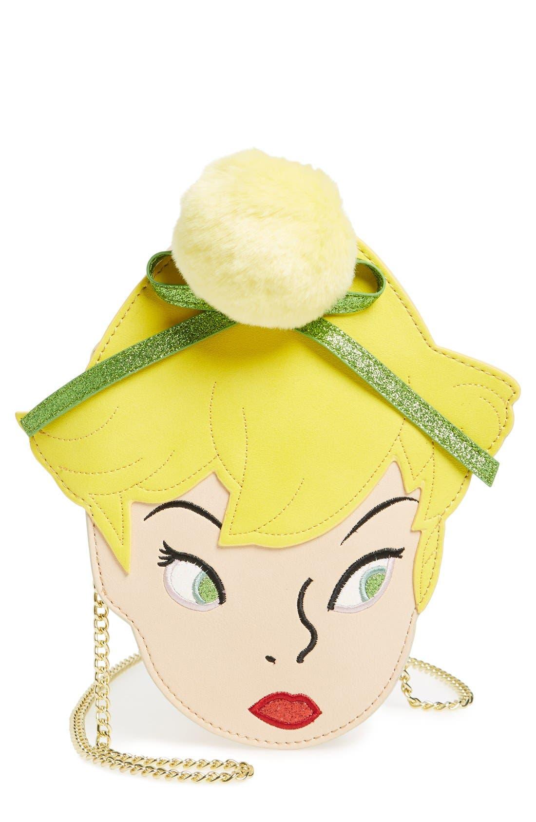 Main Image - Danielle Nicole x Disney® Tinker Bell Faux Leather Crossbody Bag