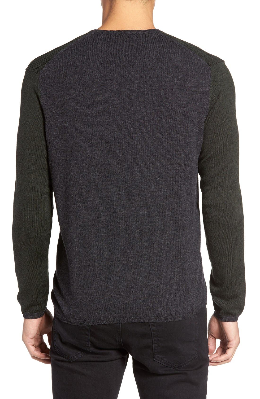 Alternate Image 2  - Zachary Prell V-Neck Colorblock Merino Wool Pullover