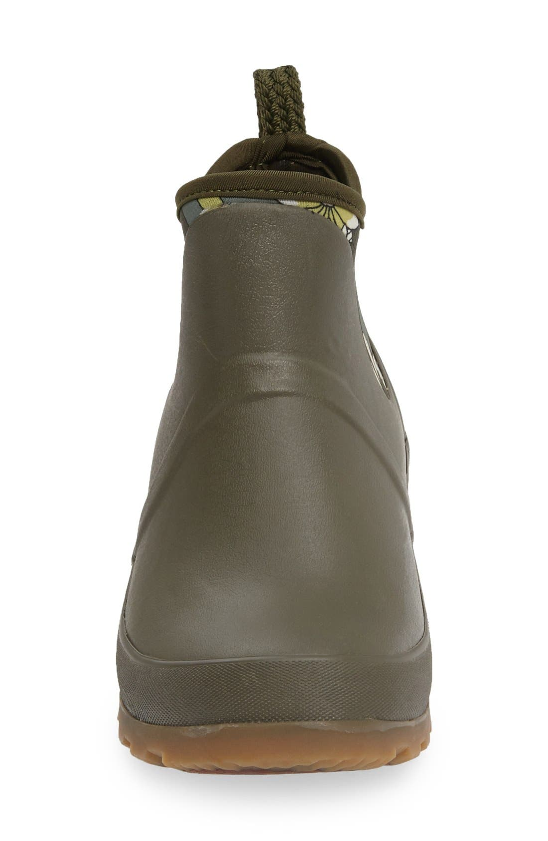 Mano Waterproof Rain Boot,                             Alternate thumbnail 3, color,                             Olive Flower Power