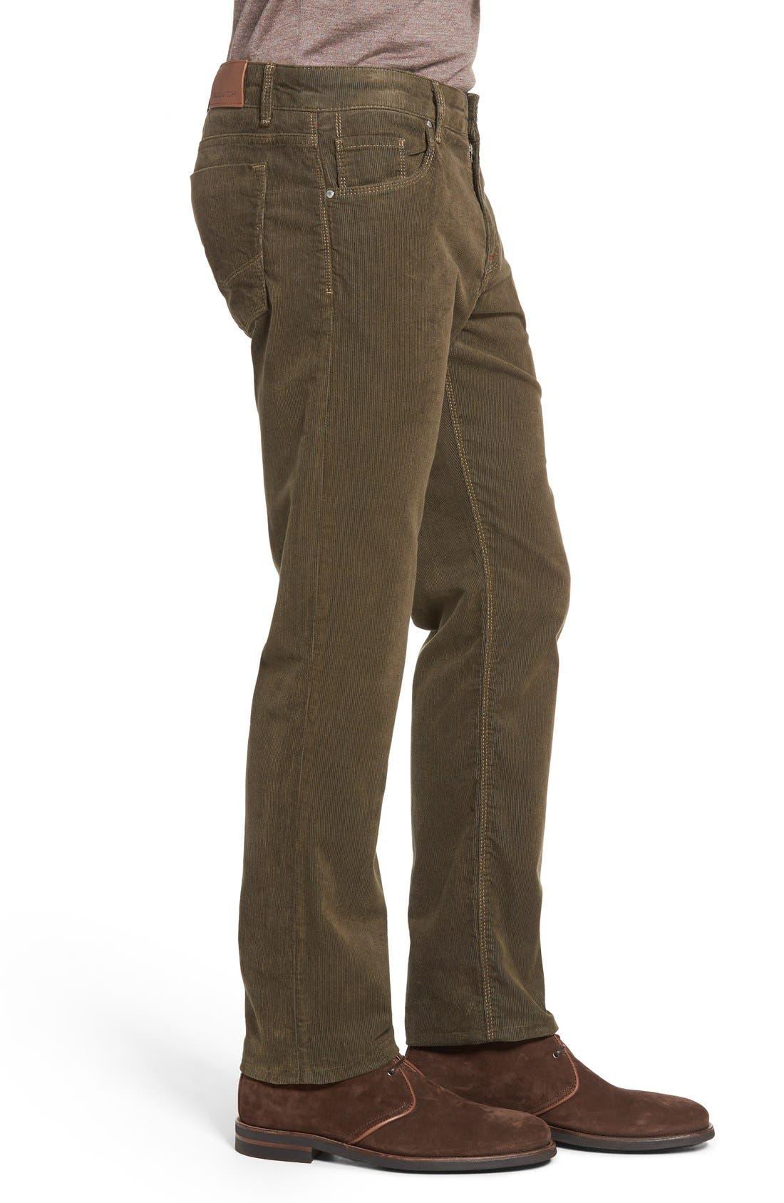 Slim Fit Corduroy Pants,                             Alternate thumbnail 3, color,                             Sage
