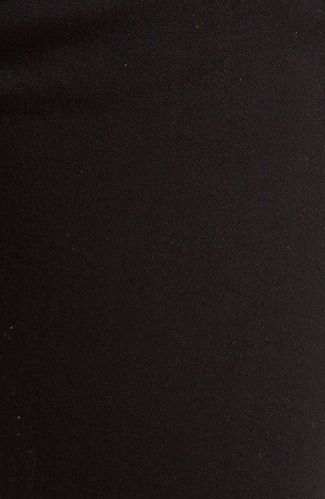 Cutoff Capri Jeans,                             Alternate thumbnail 5, color,                             Black Hampton