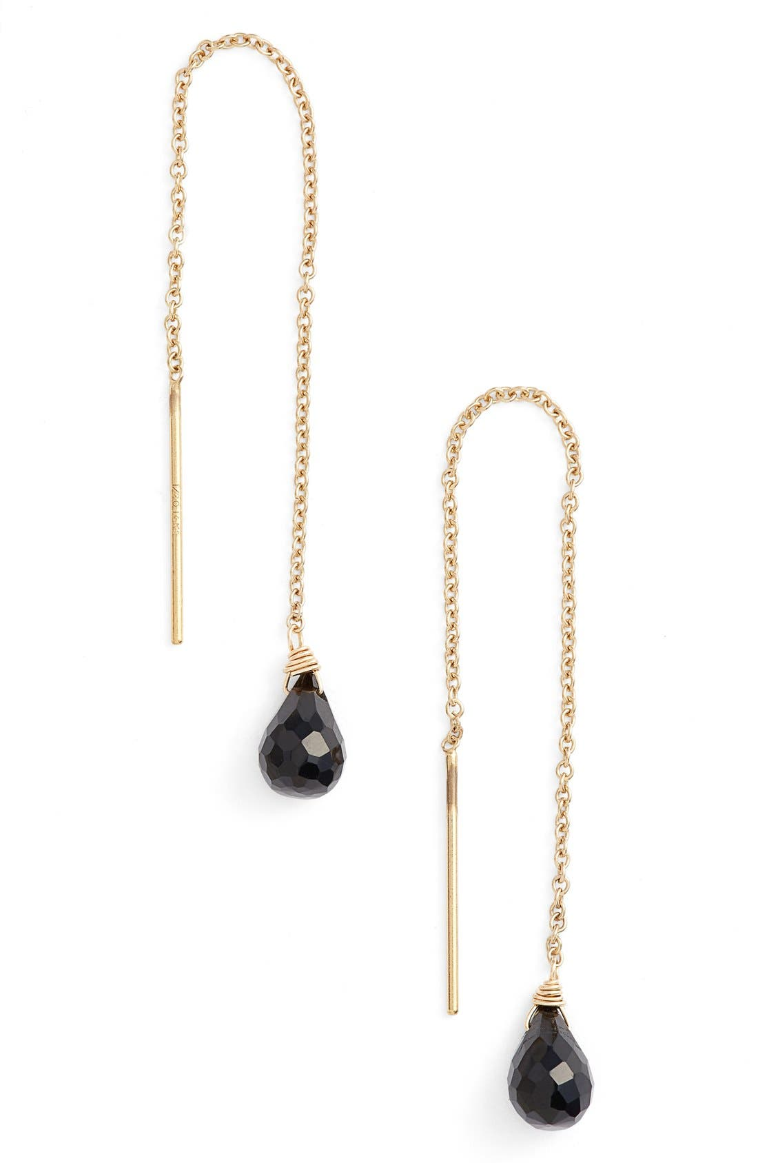 Leah Alexandra Semiprecious Stone Threader Earrings