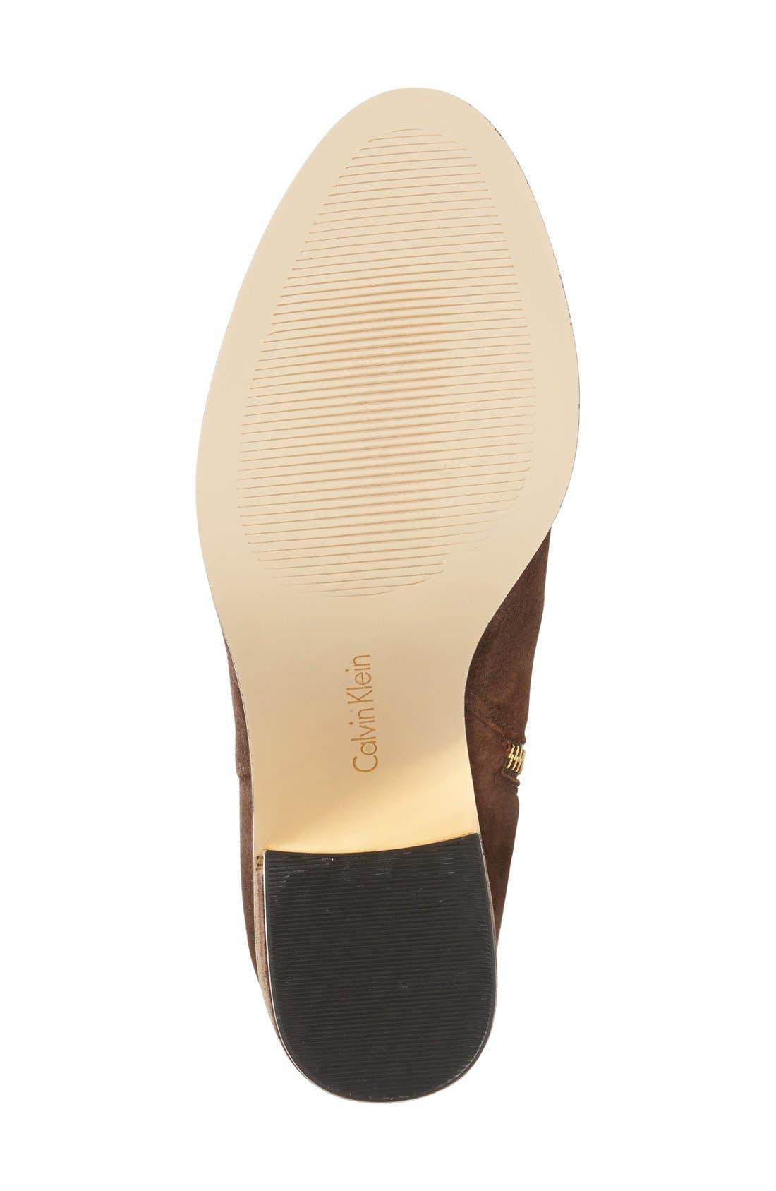 Alternate Image 4  - Calvin Klein Camie Water Resistant Knee High Boot (Women)