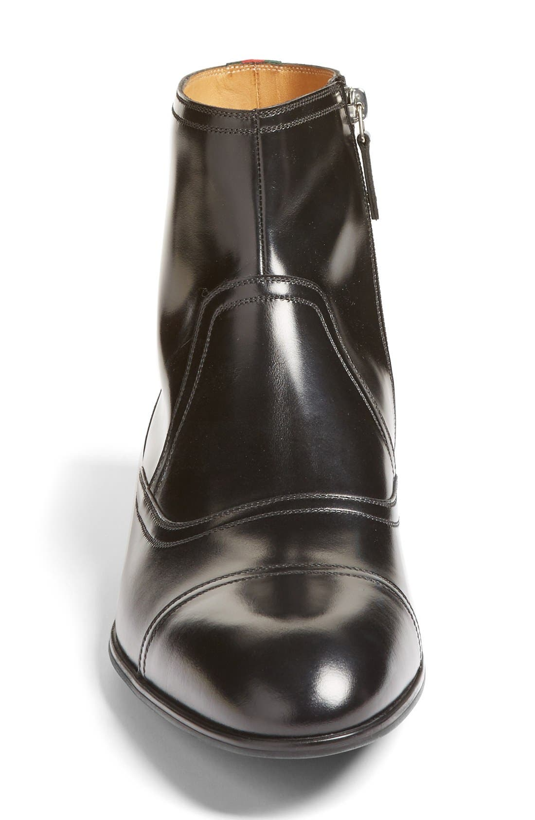 Ravello Zip Boot,                             Alternate thumbnail 3, color,                             Nero Leather