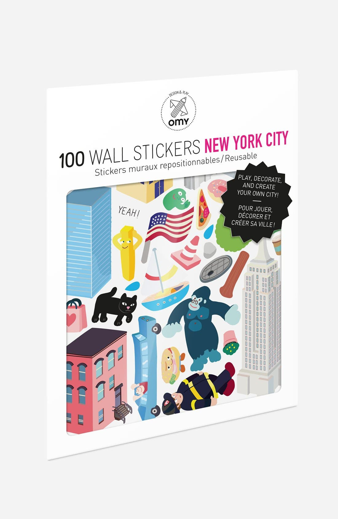 OMY Set of 100 New York City Wall Stickers