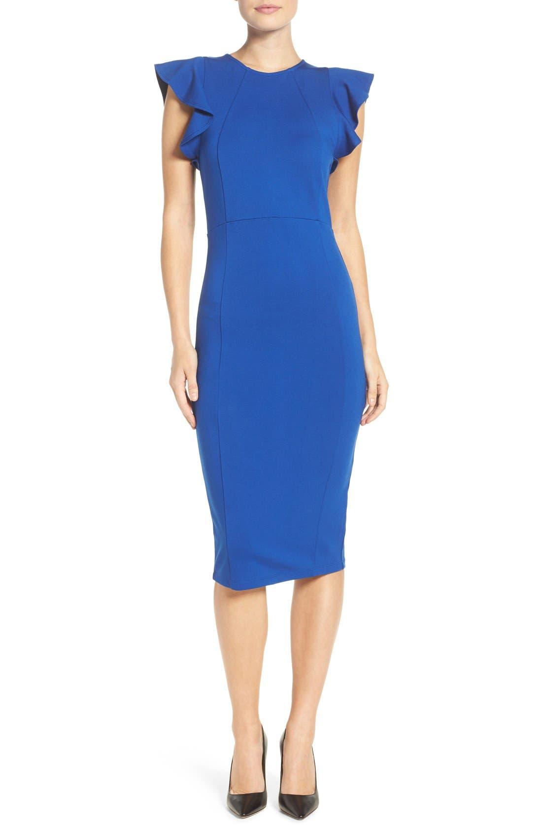 Blue dress cocktail quilt