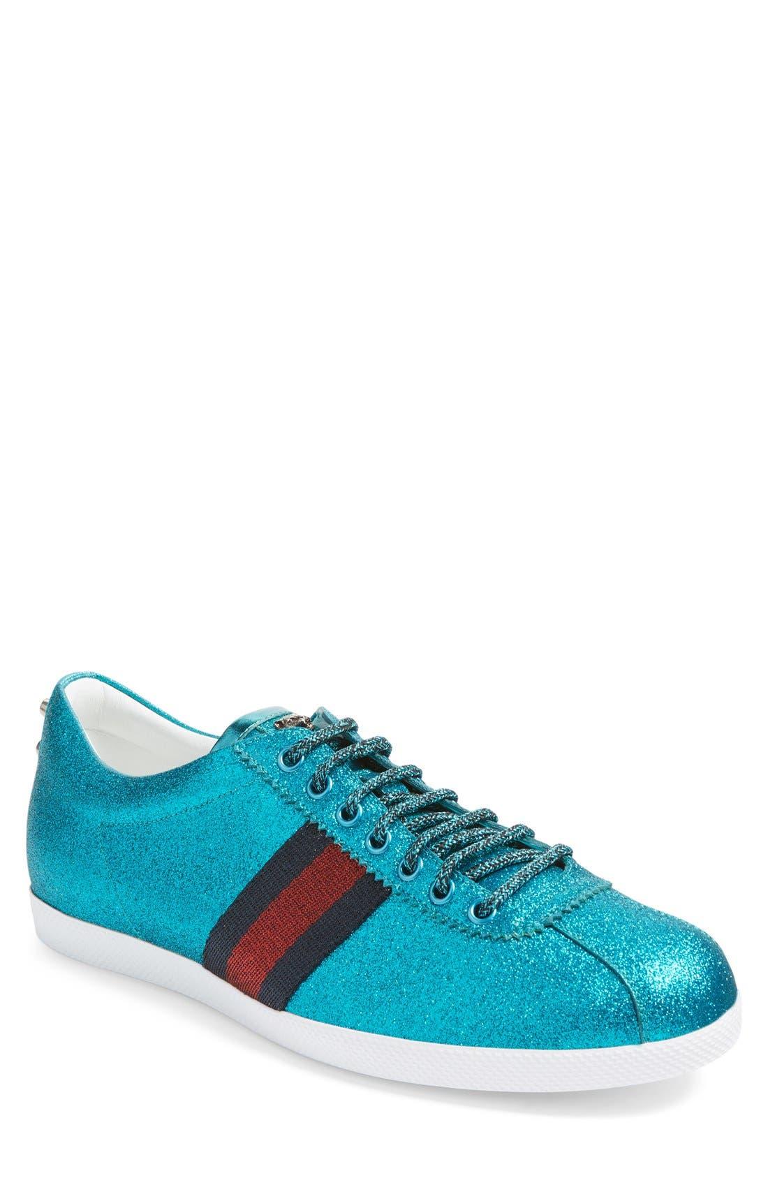 Bambi Lace-Up Sneaker,                         Main,                         color, Green